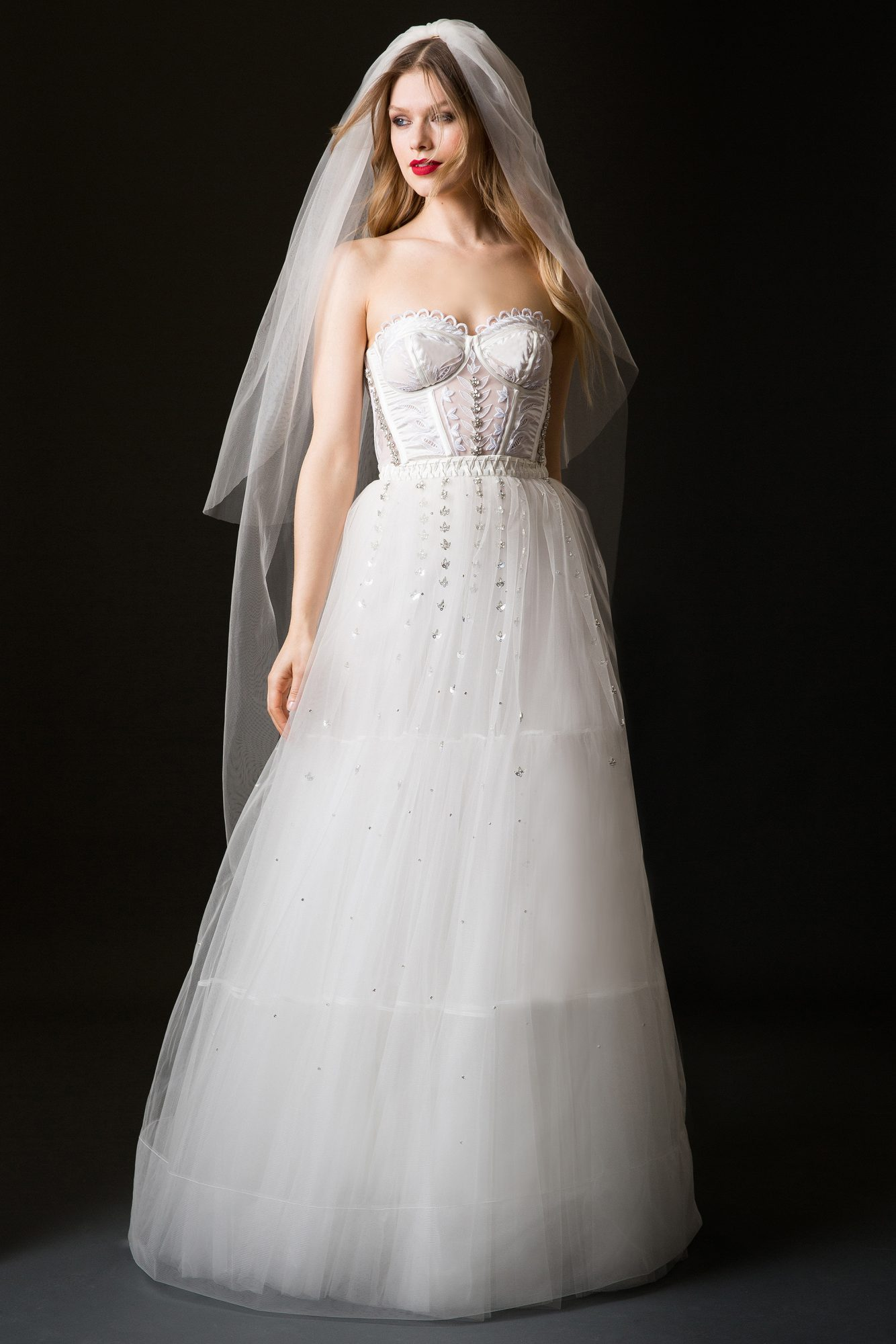 temperley wedding dress spring 2019 a-line with corset top and tulle skirt