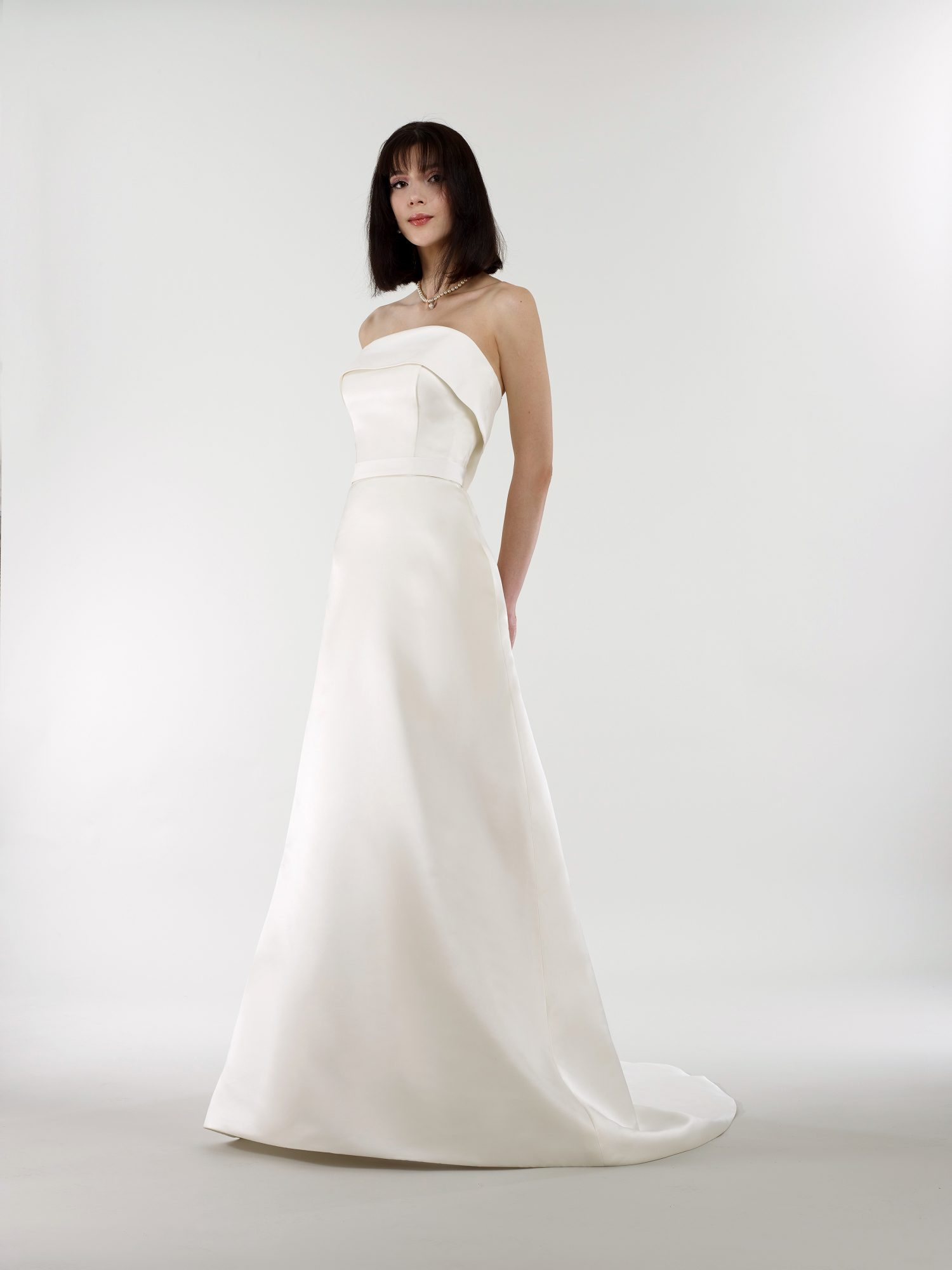 steven birnbaum bridal wedding dress spring 2019 strapless fold over a-line