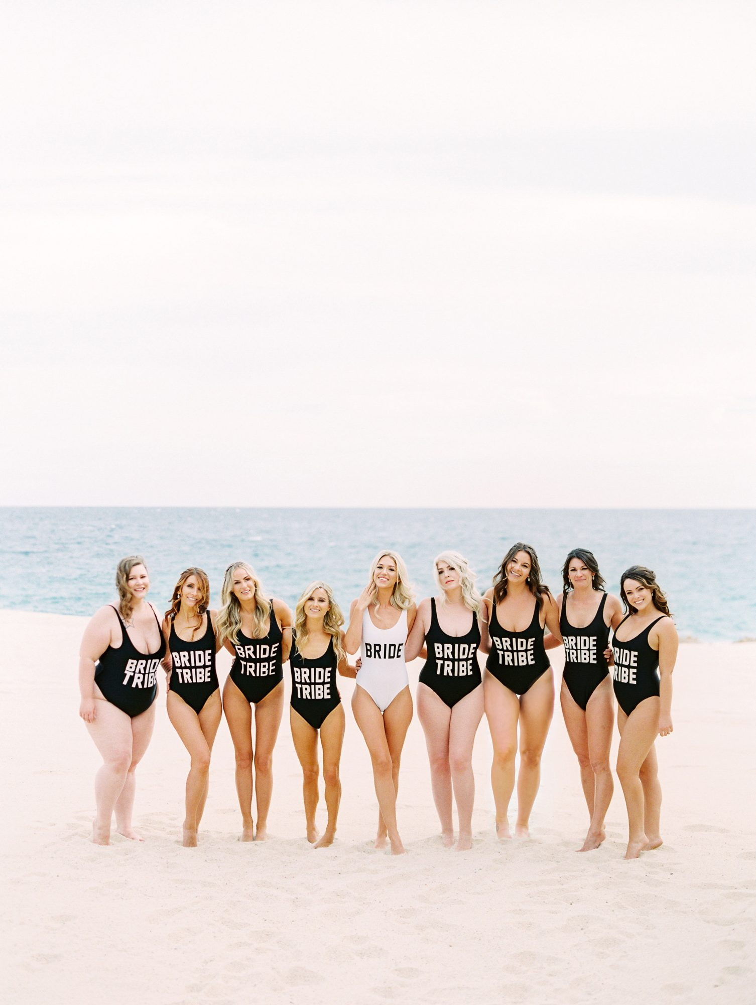 kourtney justin wedding mexico bridesmaids swimsuits