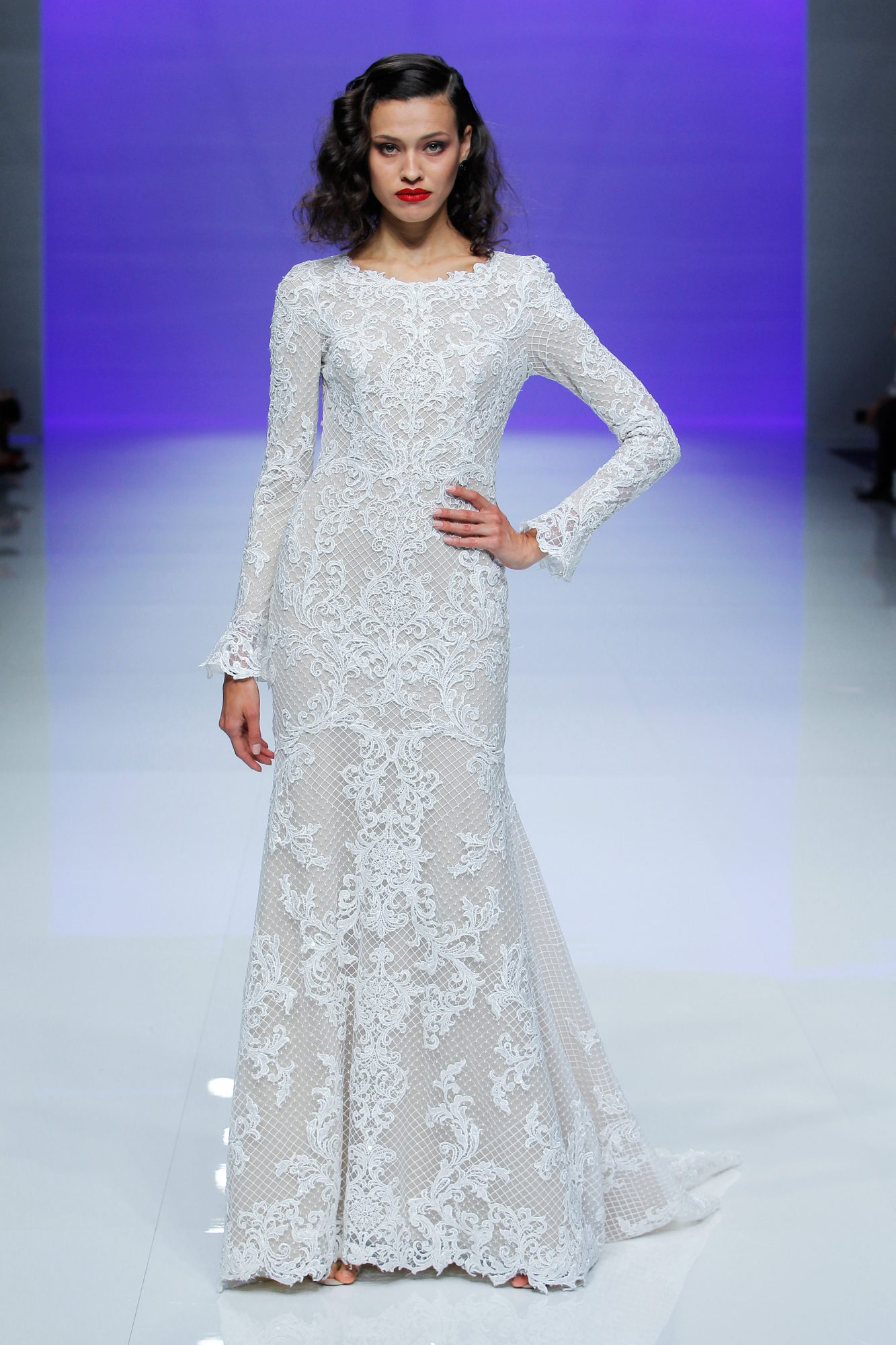 maggie sottero dress spring 2019 long sleeves lace high neck