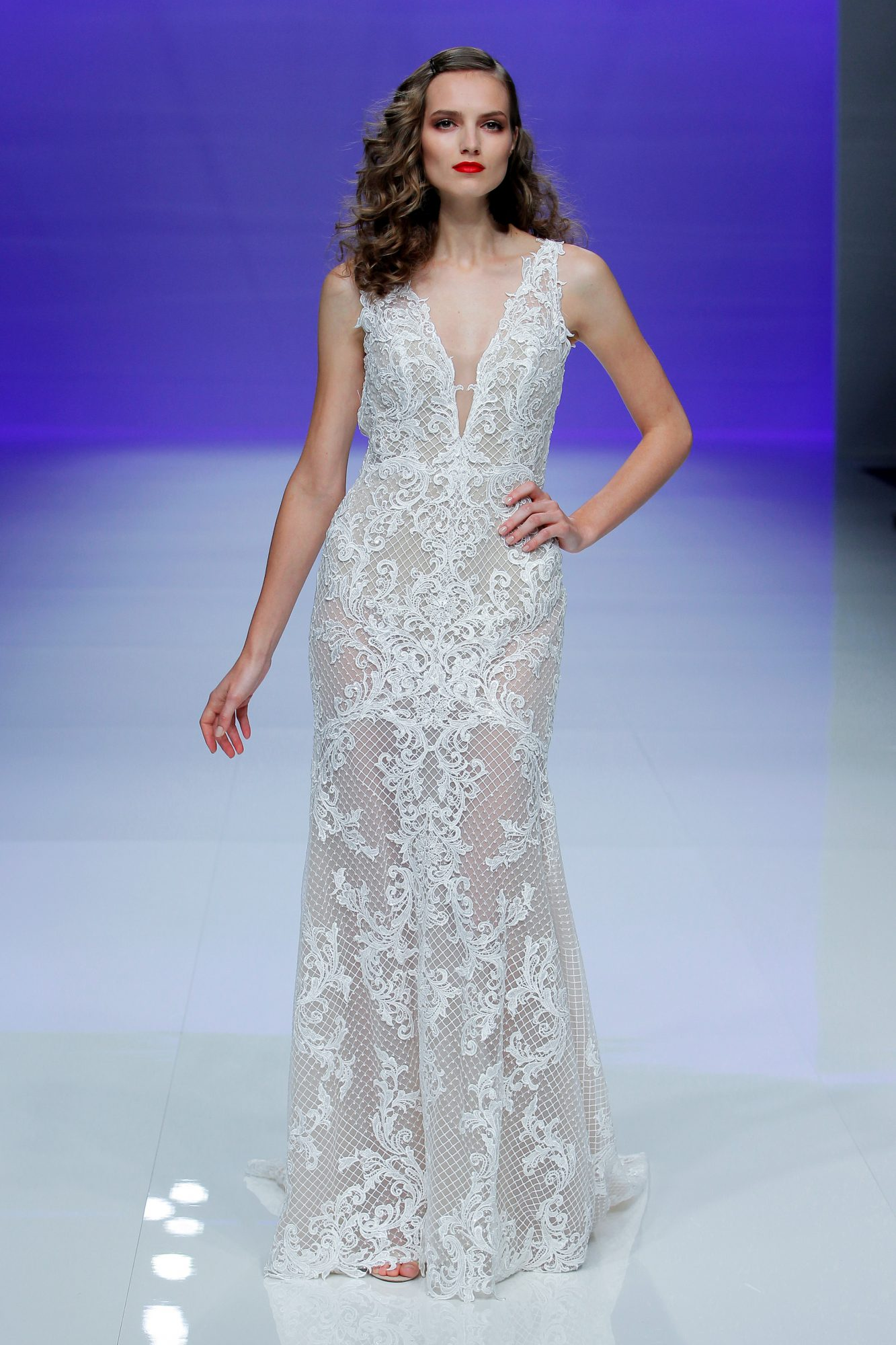 maggie sottero dress spring 2019 sleeveless lace deep v neck
