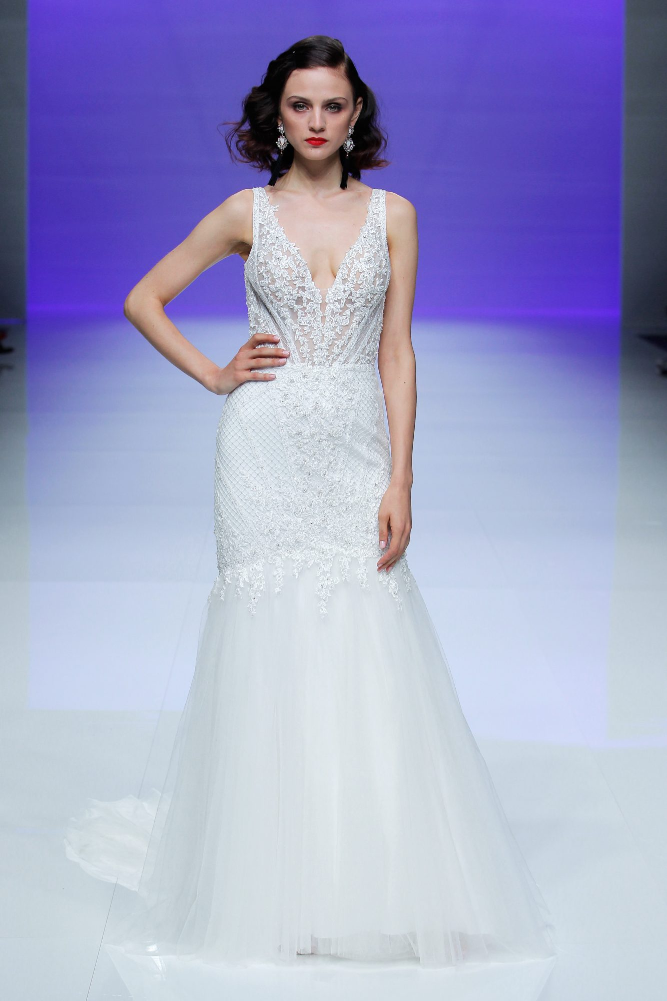maggie sottero dress spring 2019 lace trumpet v-neck