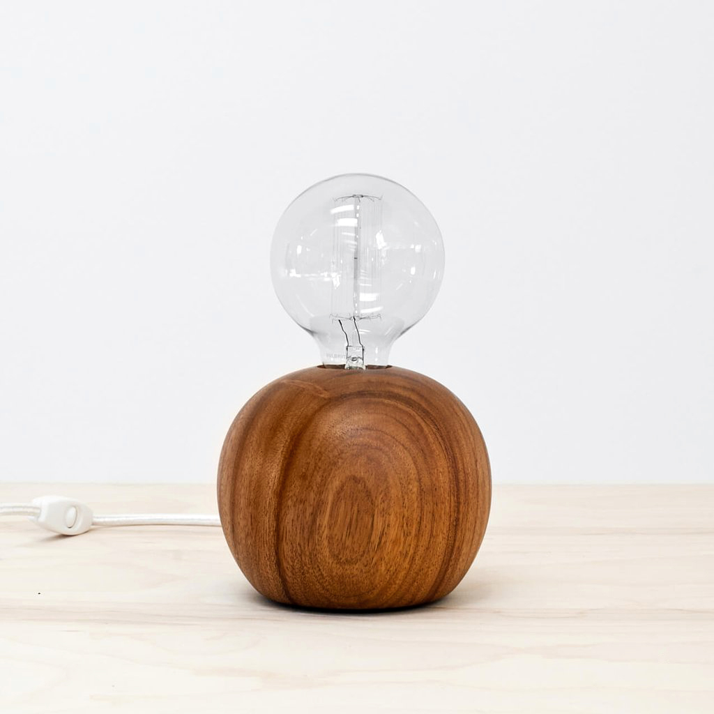 wood anniversary gift table lamp