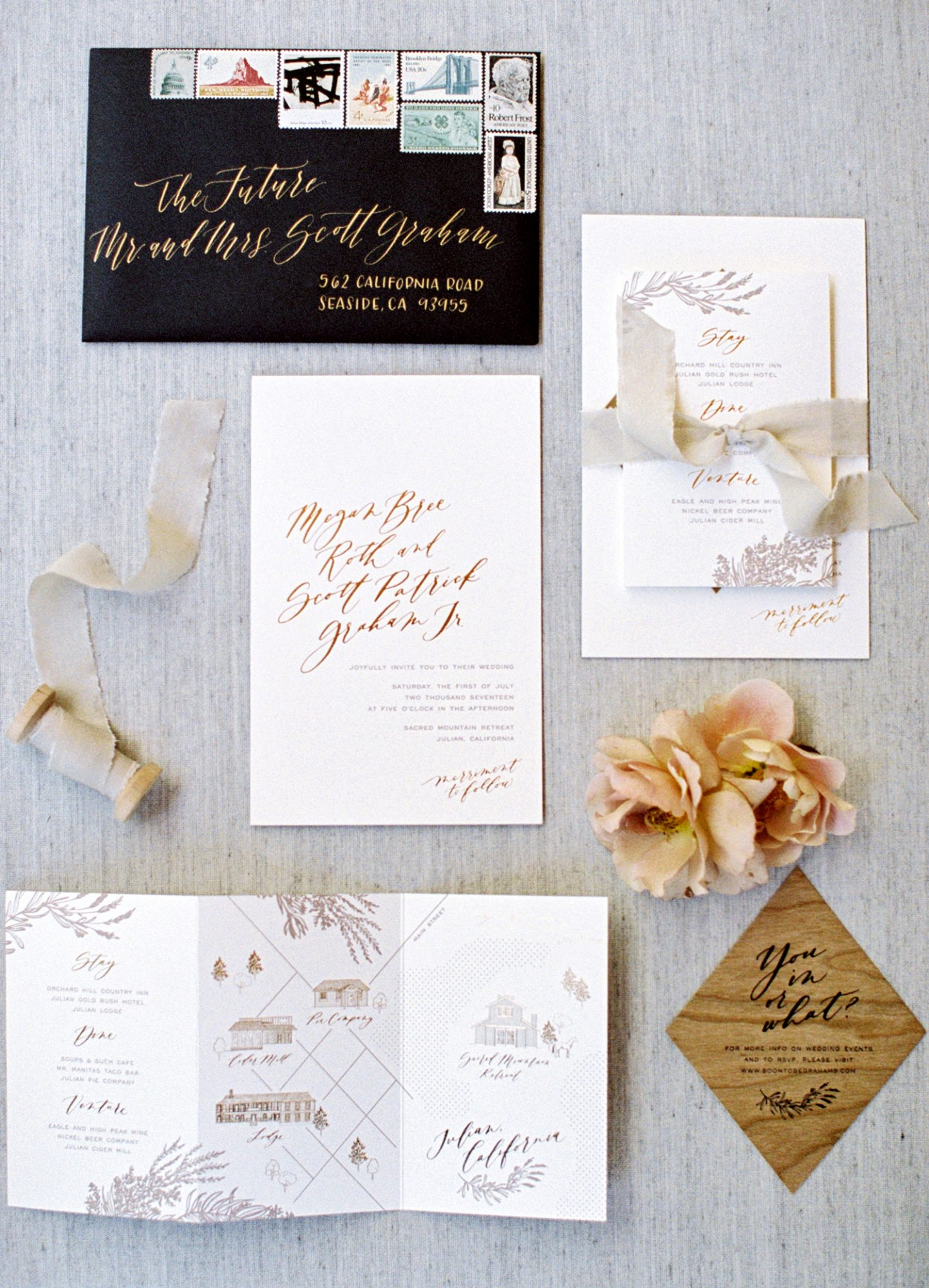 megan scott wedding stationery