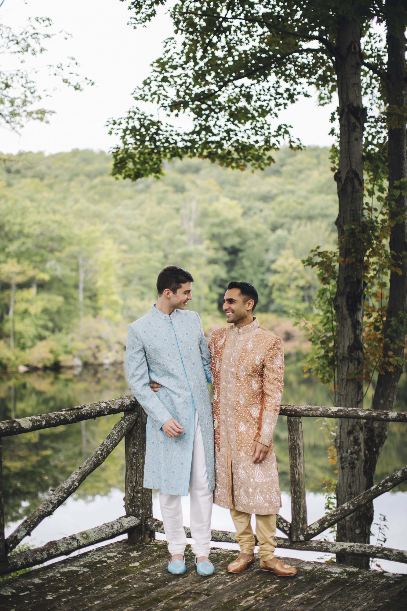 sanjay steven wedding grooms on overlook