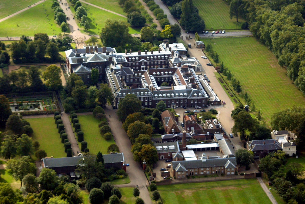 An aerial view of Kensington Palace.