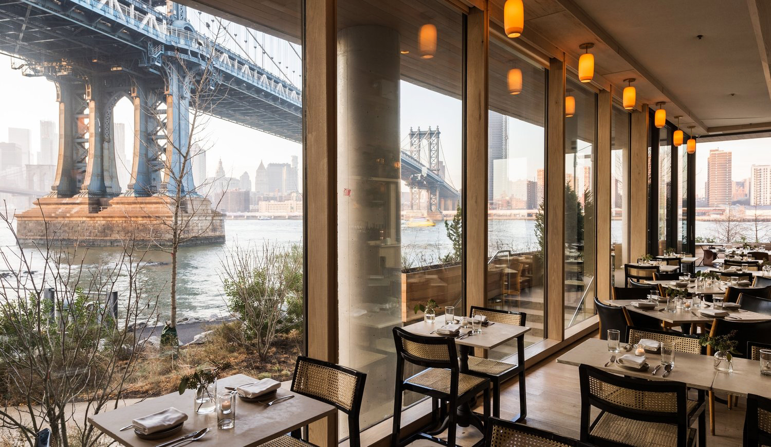 new venue restaurant seating bridge view