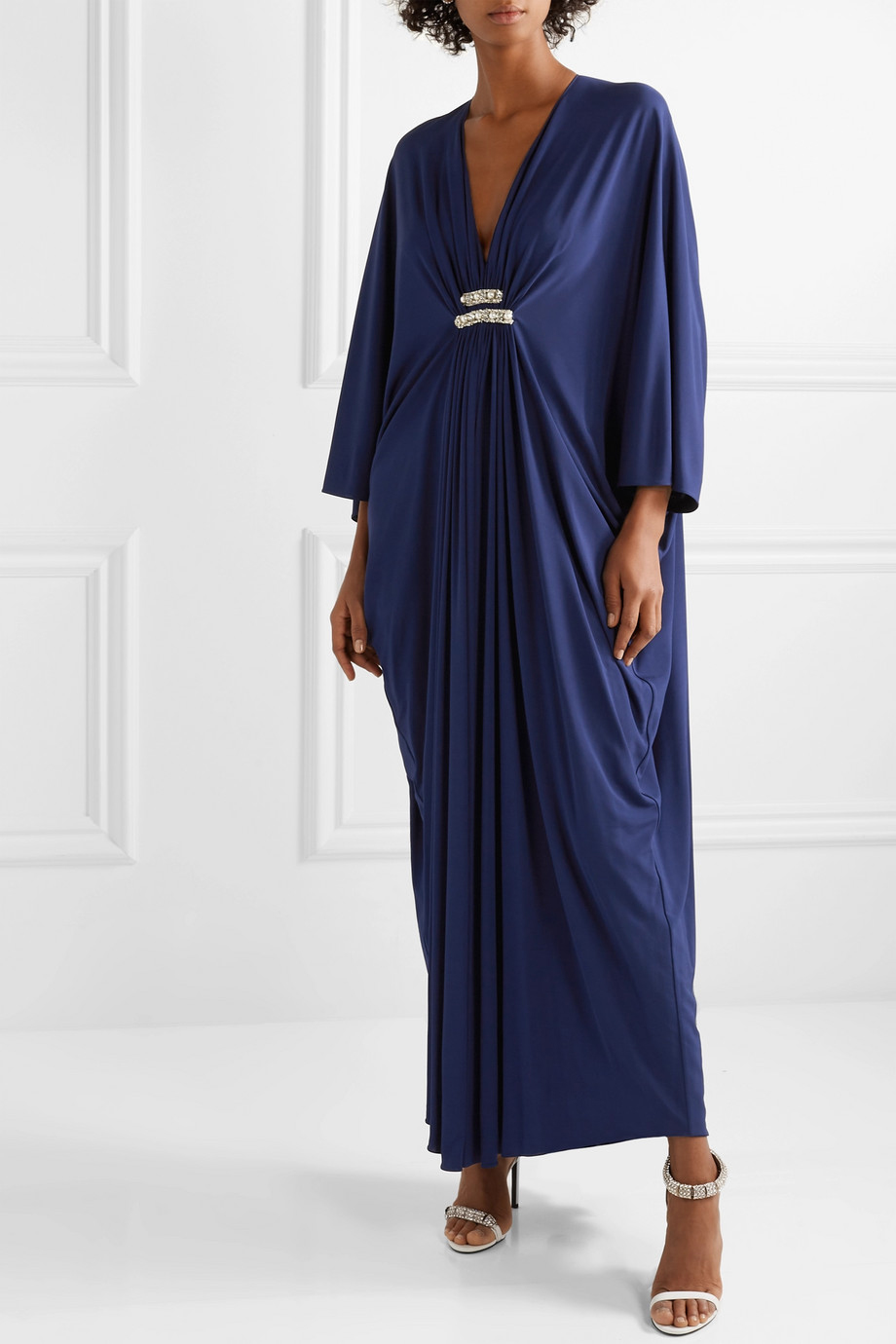 Reem Acra Draped Jersey Maxi Dress