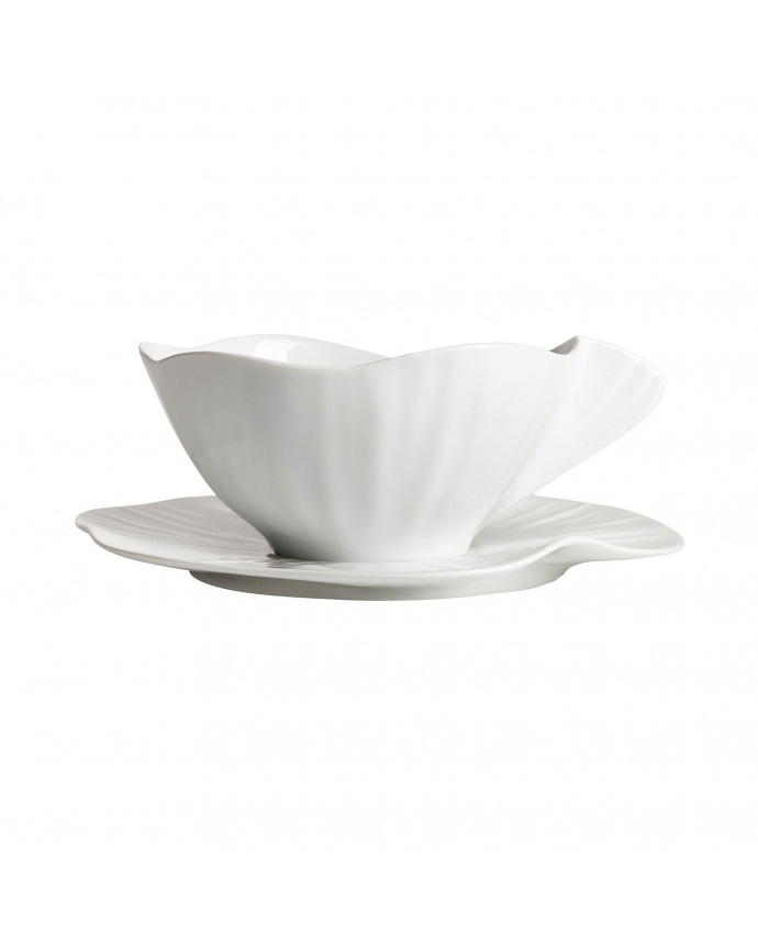 lotus porcelain cup and saucer