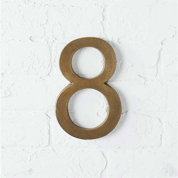 bronze anniversary gift house number 8