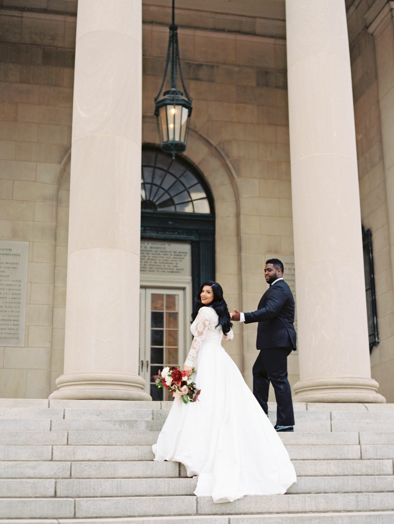 daniela emmanuel wedding maryland couple holding hands