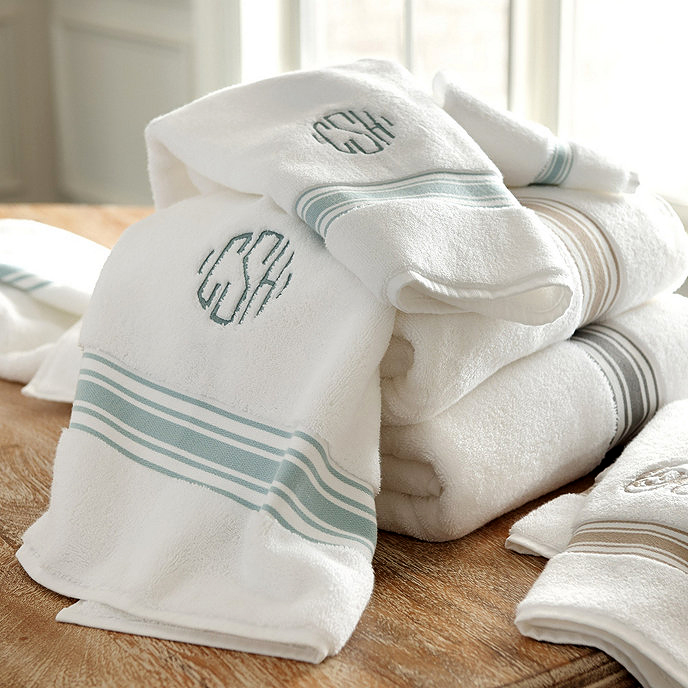personalized engagement gift monogrammed towels