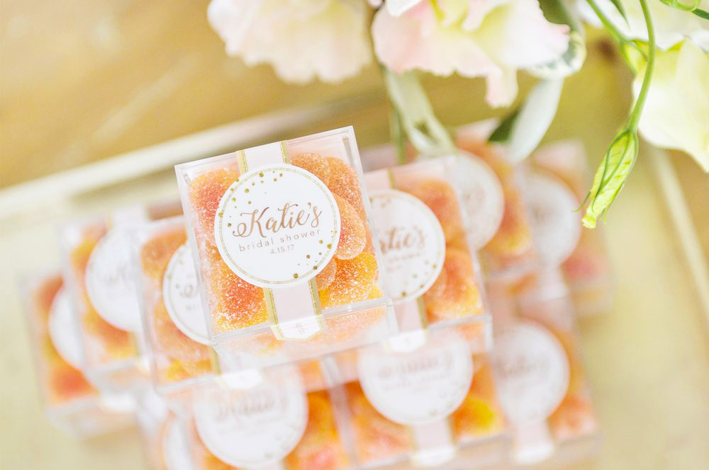 personalized engagement gift sugarfina orange candy