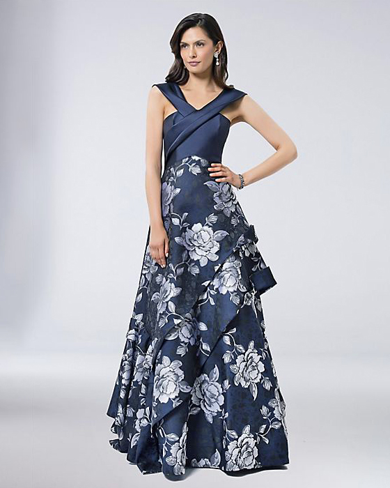 Terani Couture Floral Jacquard Ball Gown