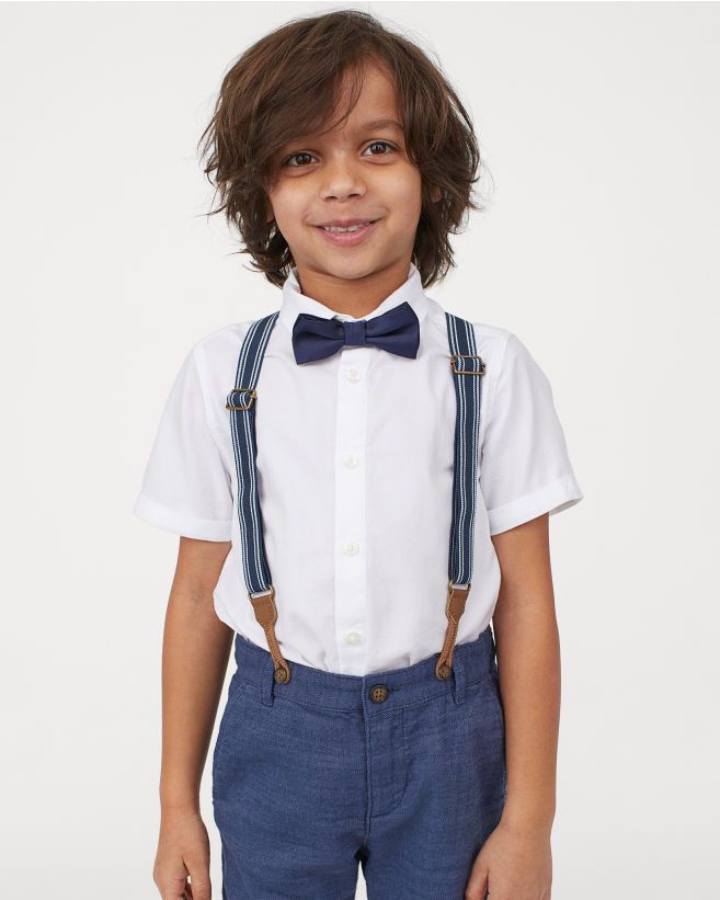 H&M Shirt with Bow Tie and Shorts