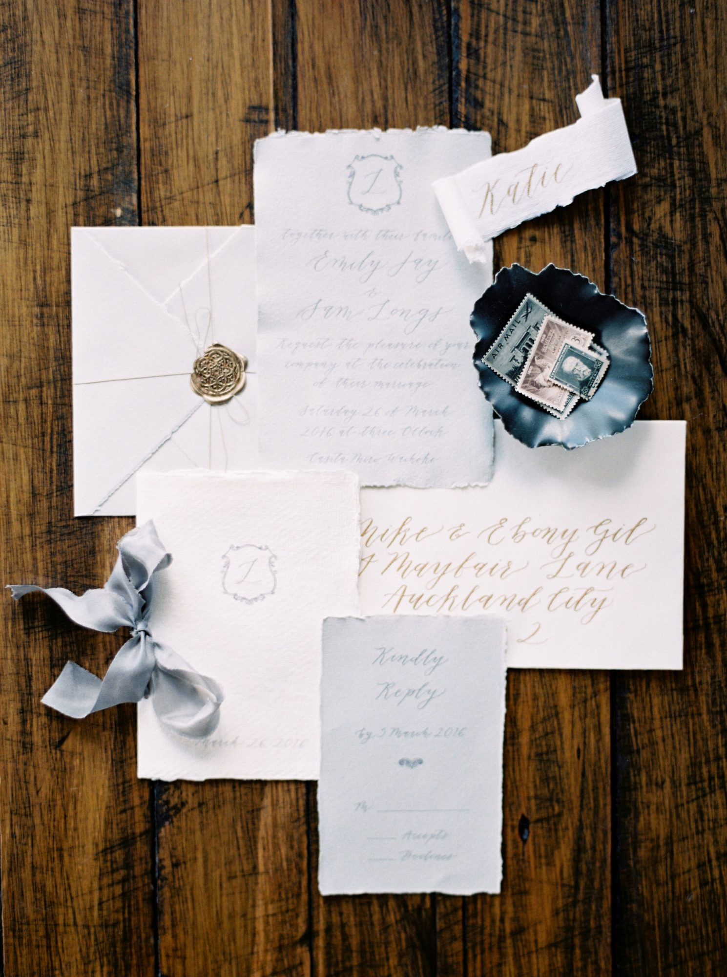deckle edge invitations when he found her