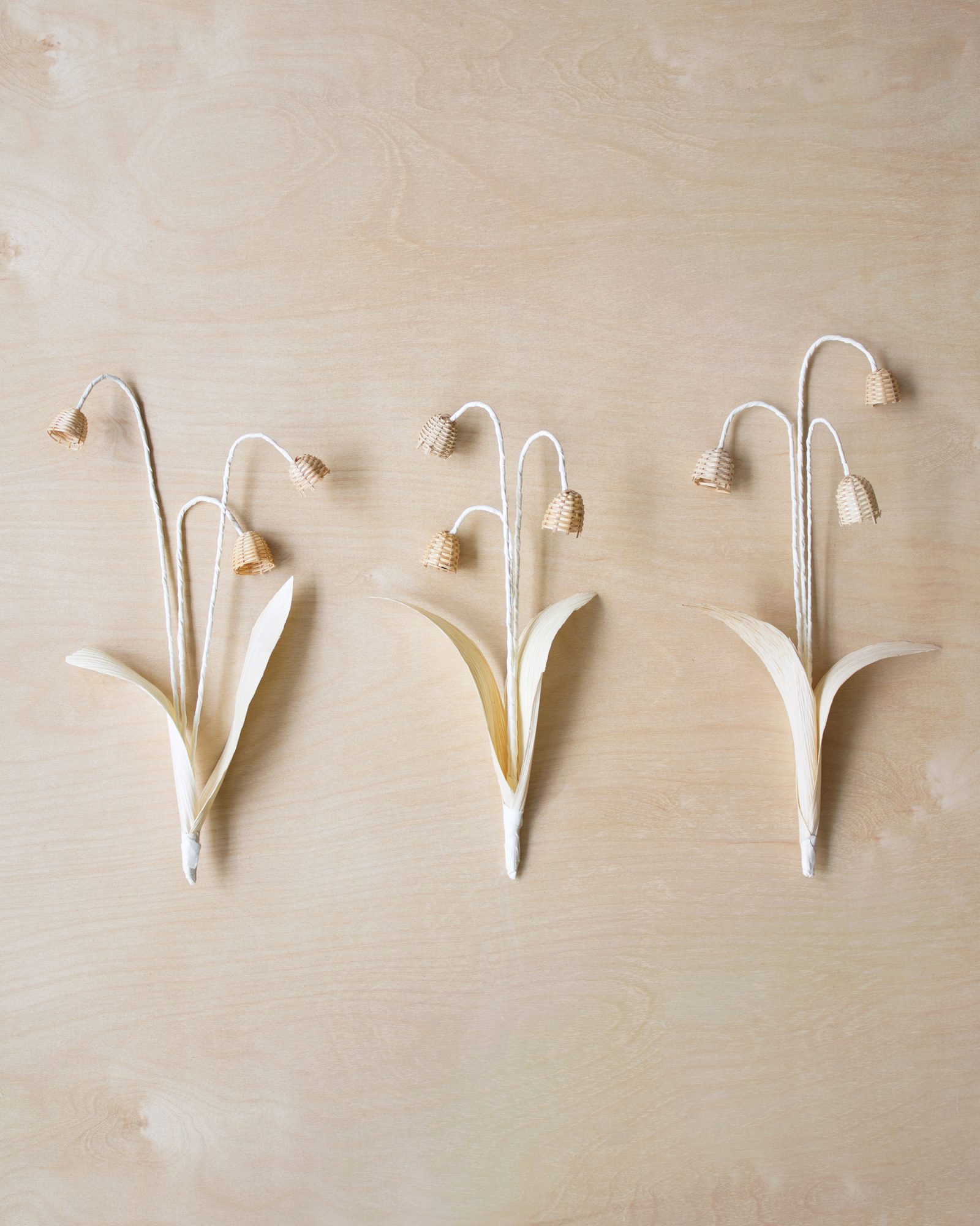 diy woven flowers lily of the valley