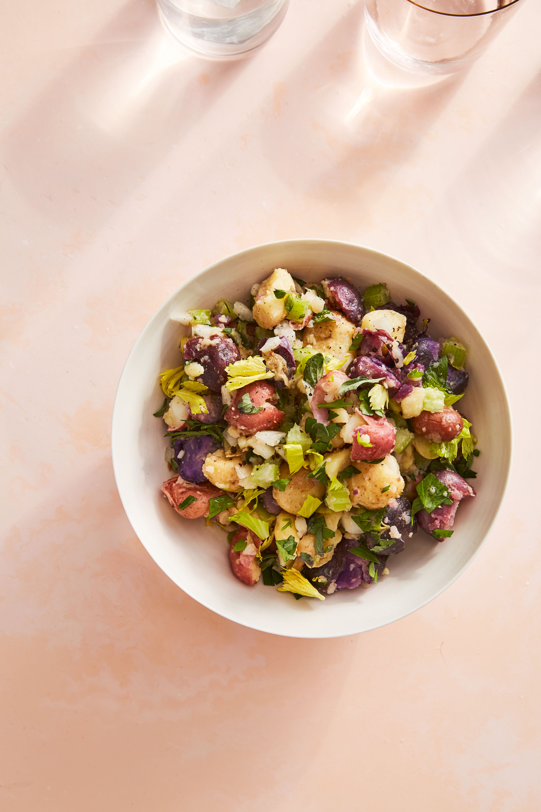 fresh and herby new potato salad