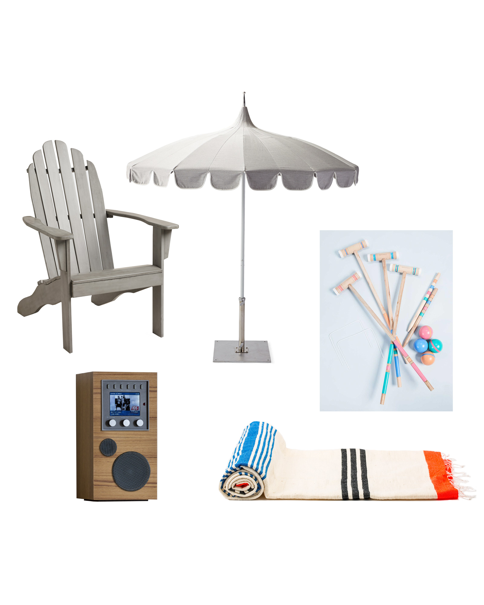 summer entertaining products sun towel umbrella