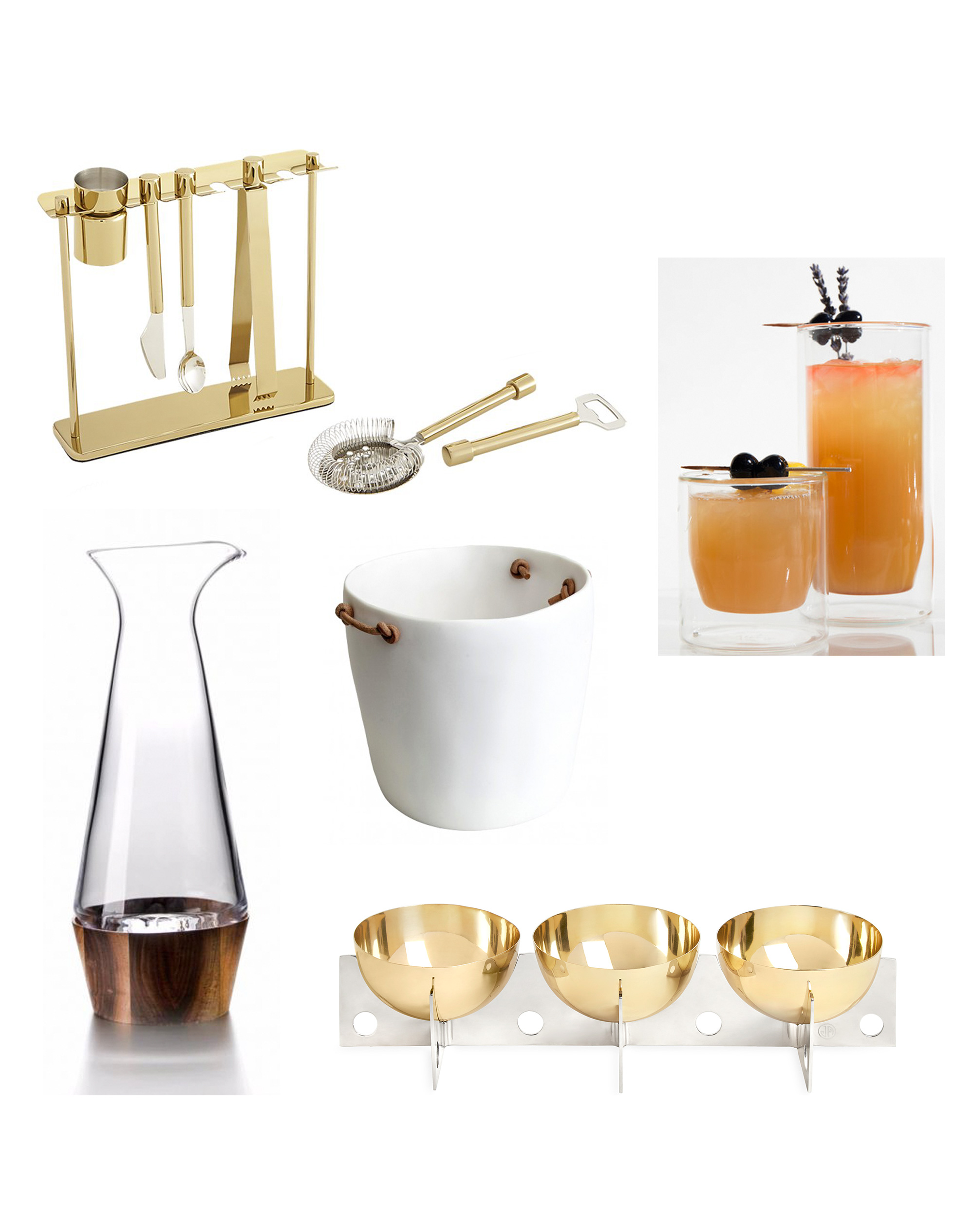 bar cart essentials products