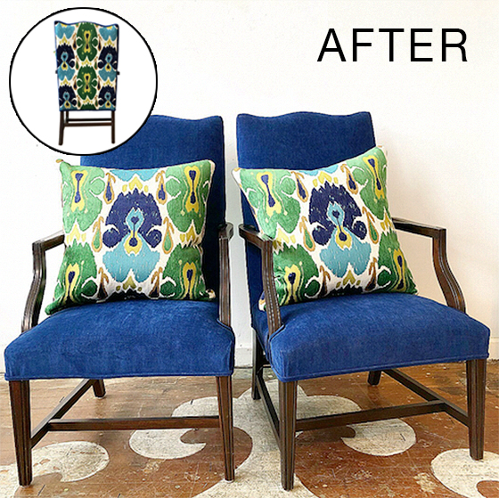 furniture makeover blue chair slipper chairs