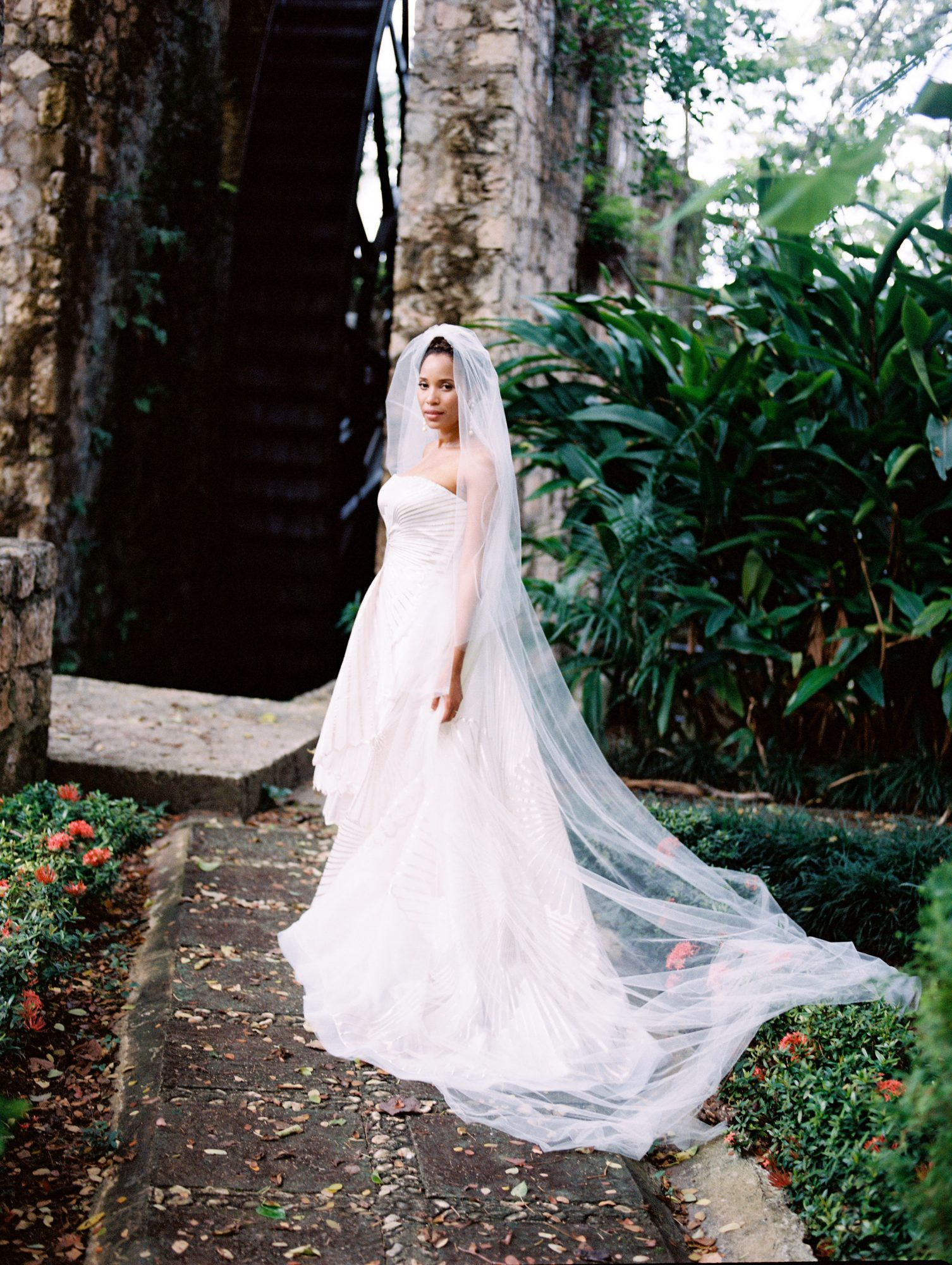 porsha terry wedding jamaica bride