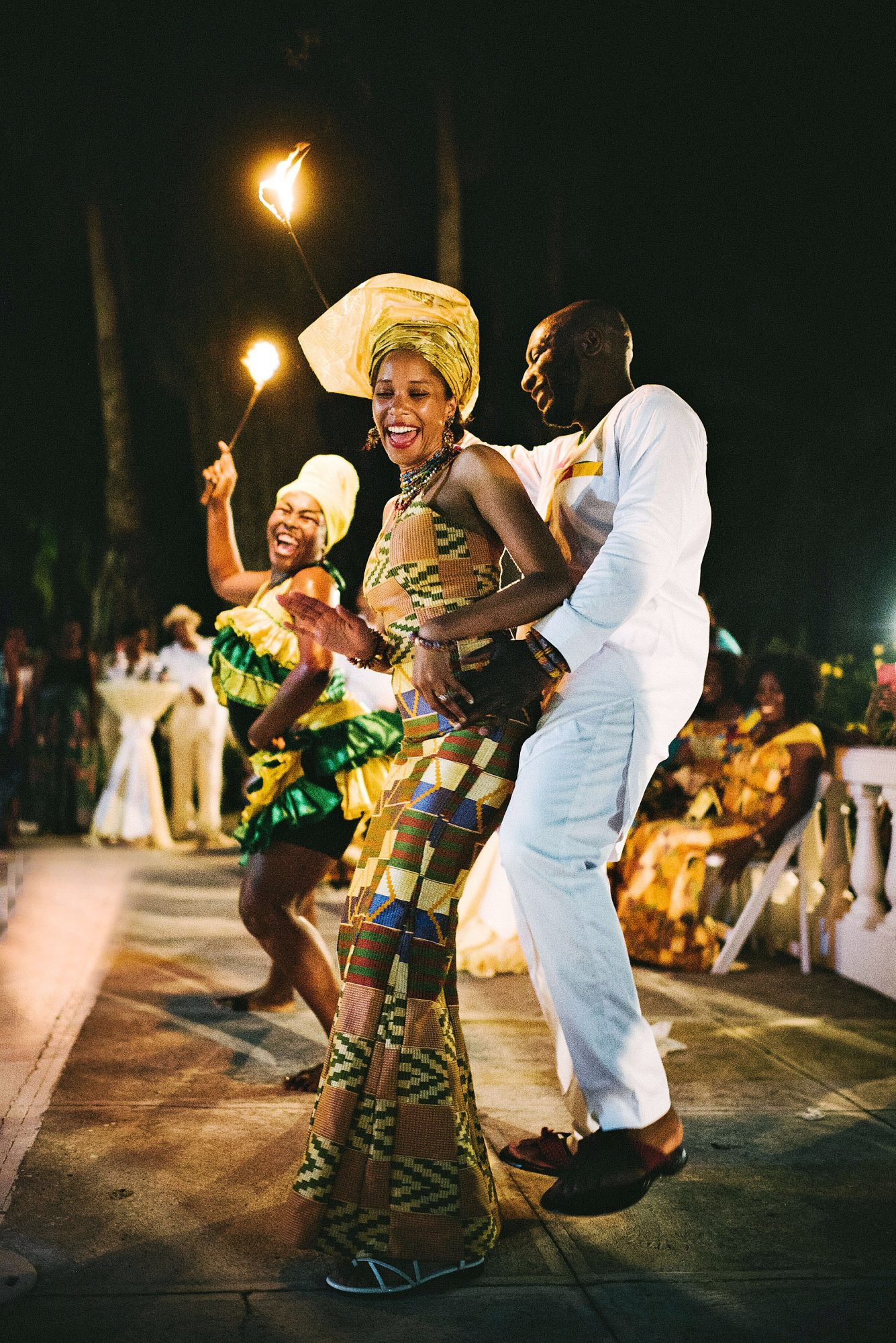 porsha terry wedding jamaica fire dancing