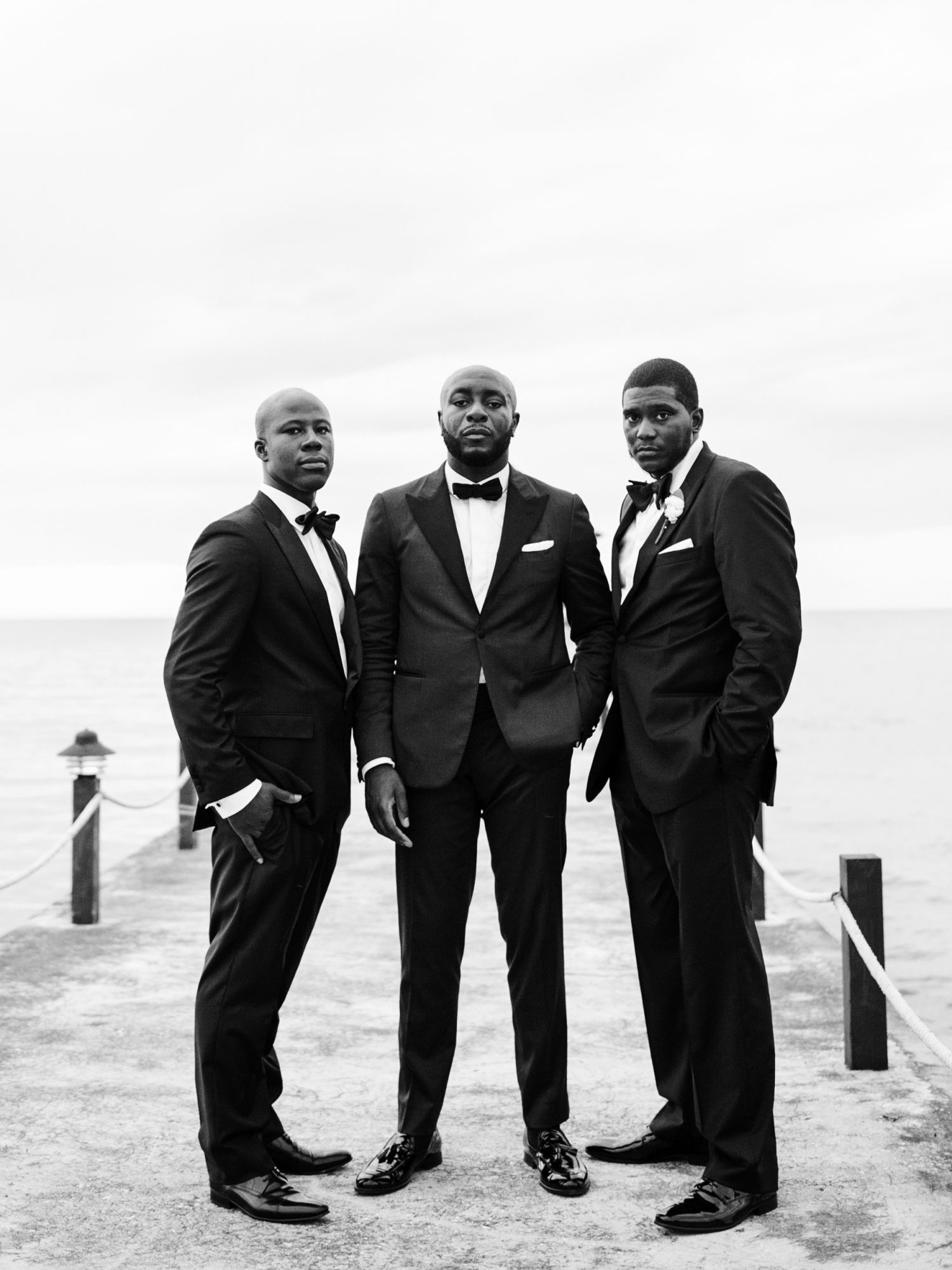 porsha terry wedding jamaica groom groomsmen black white