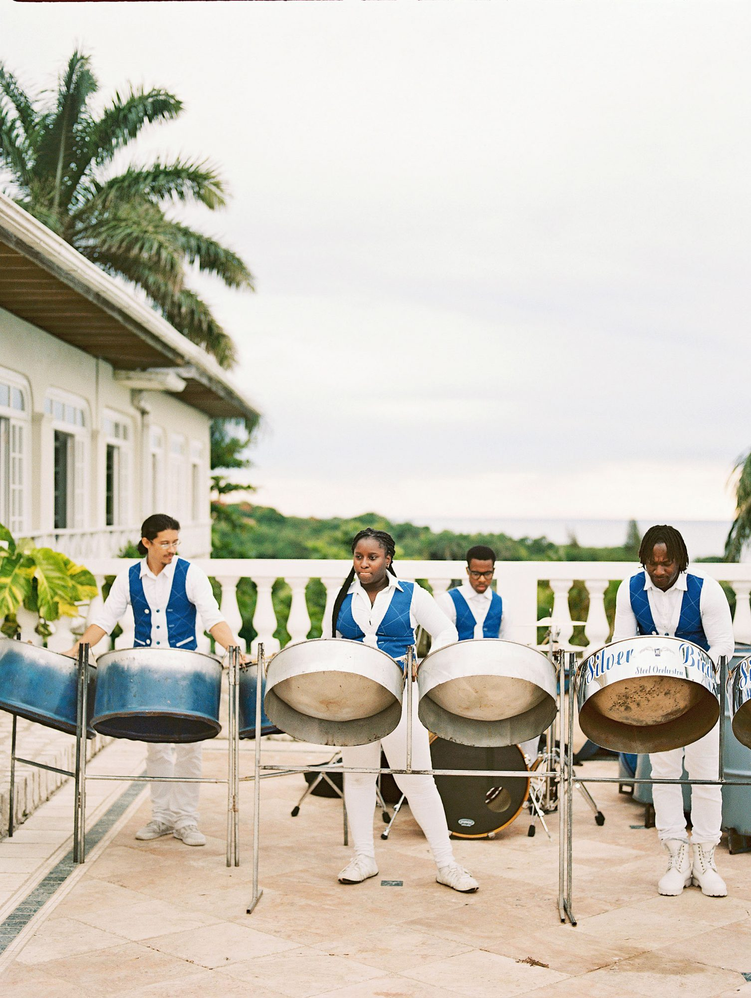 porsha terry wedding jamaica steel drum band