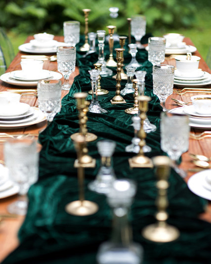 emerald gold tabletop