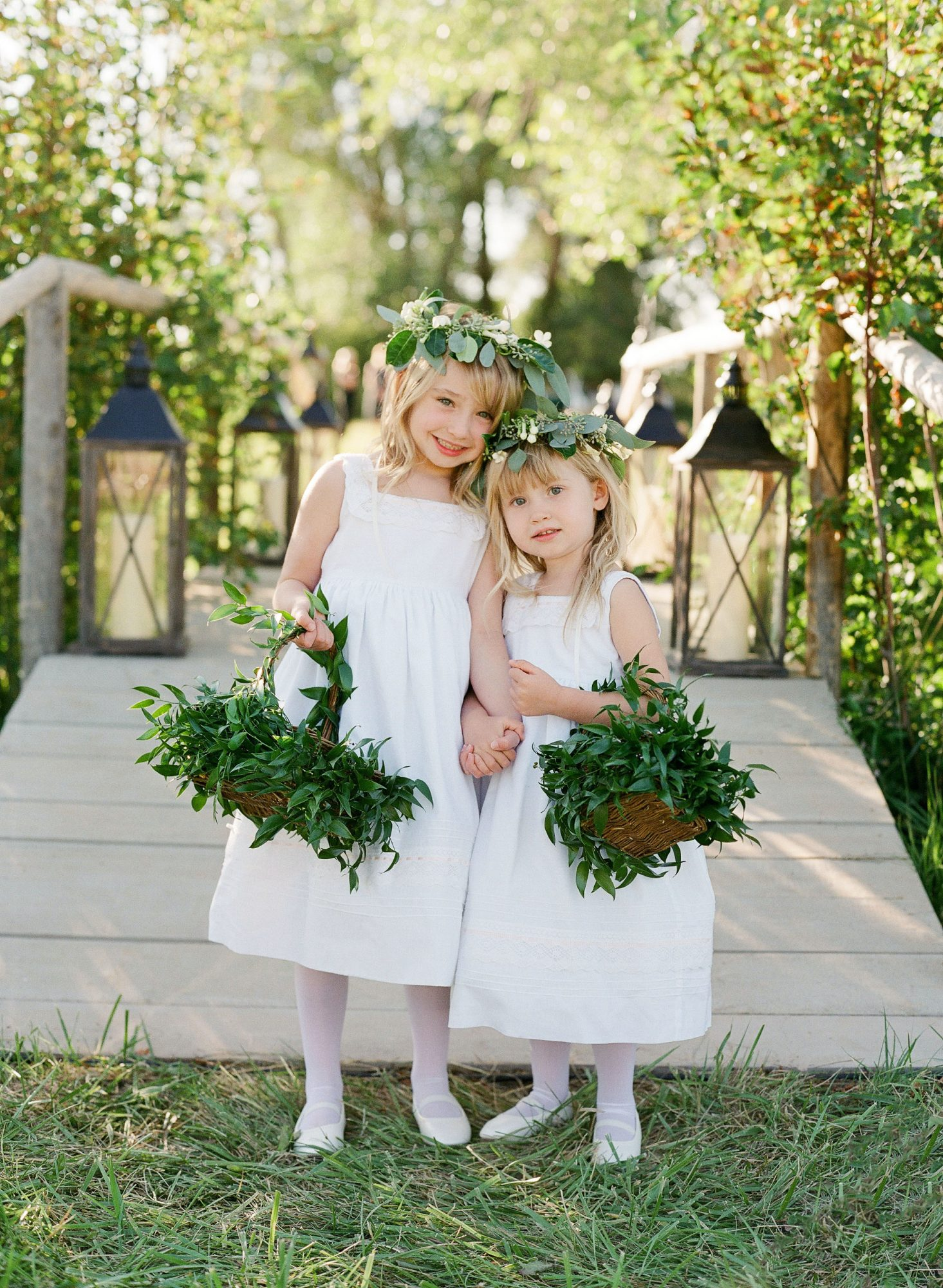 bessie john wedding flower girls