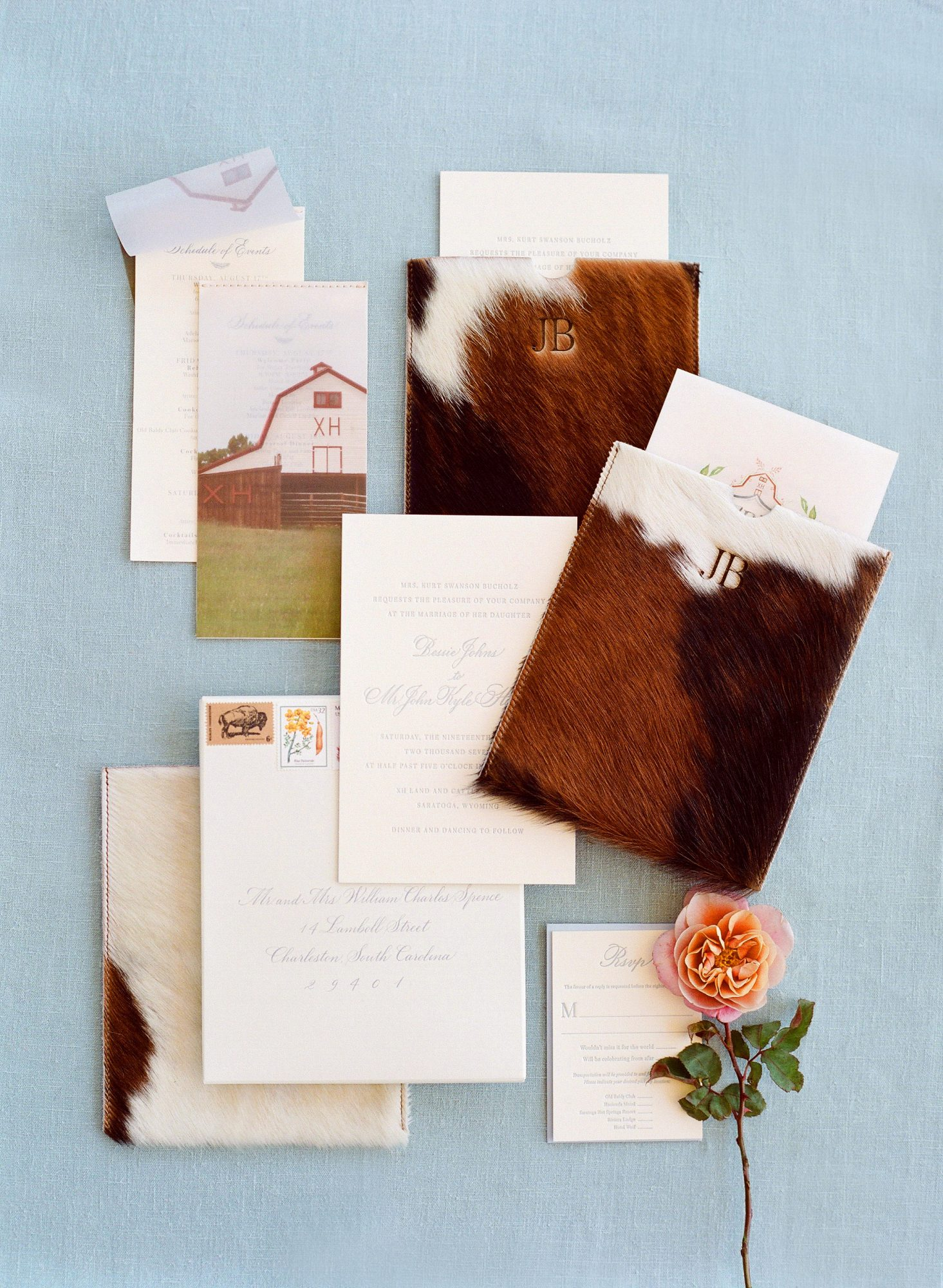 bessie john wedding invitation