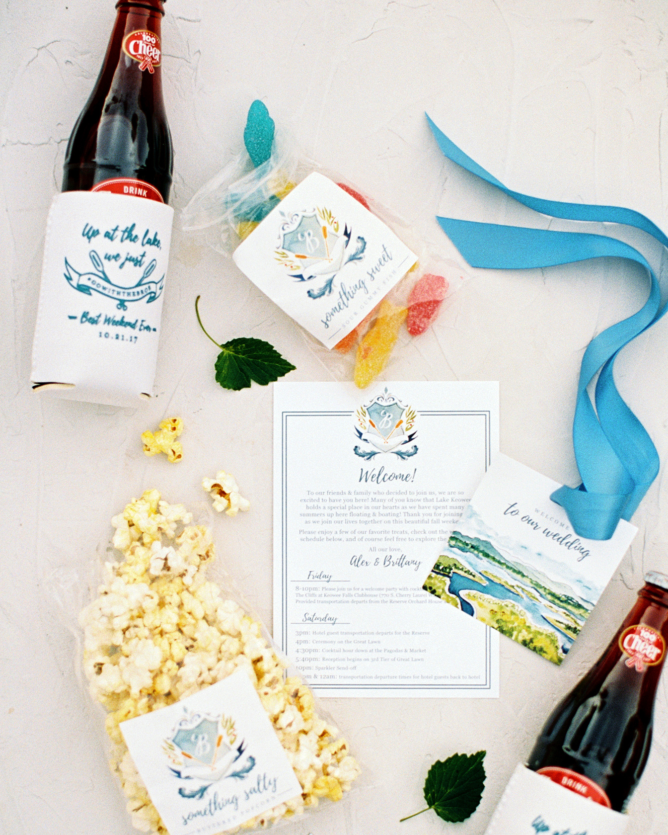 brittany alex wedding welcome bags