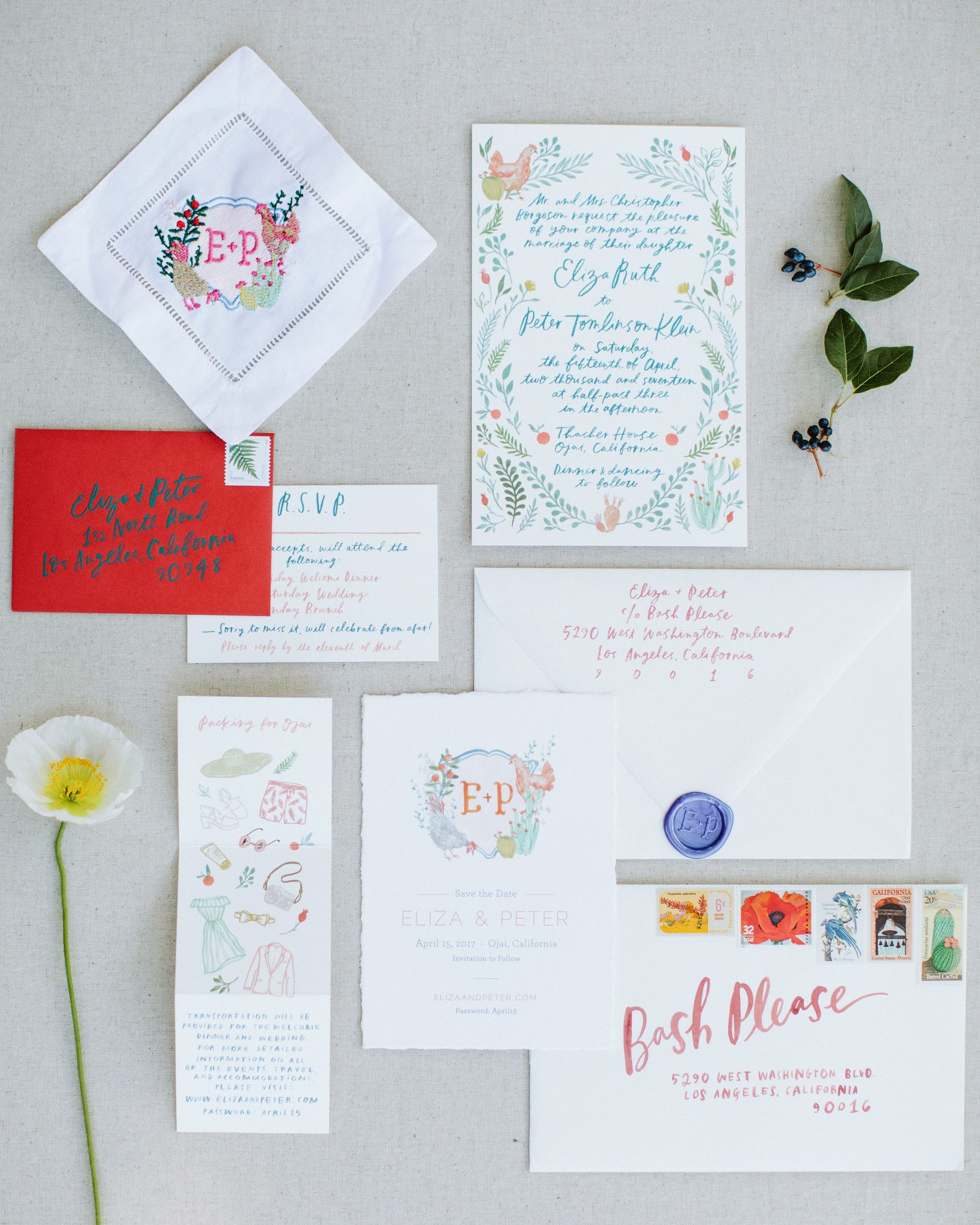 eliza peter wedding stationery