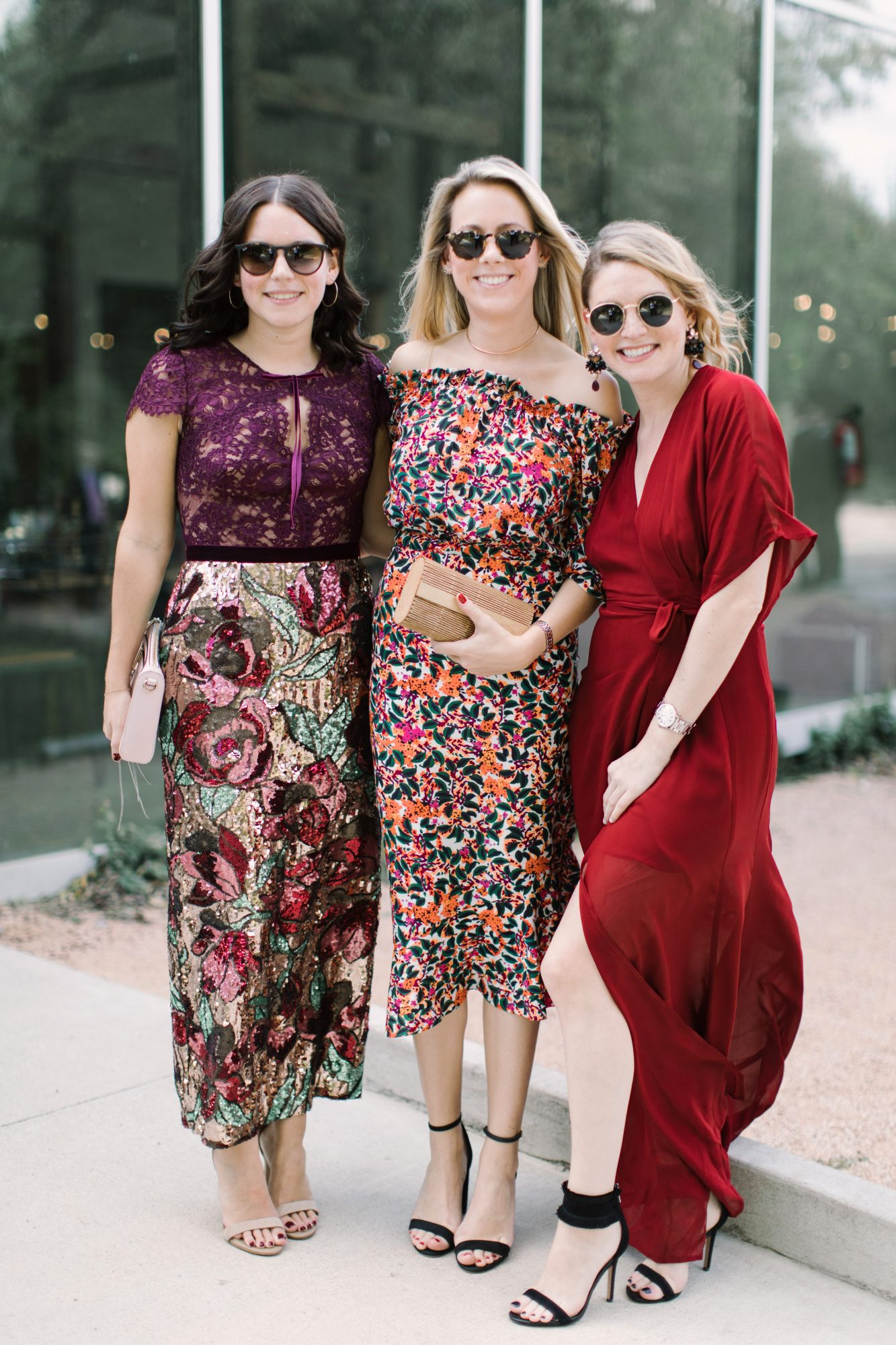 wedding guests colorful dresses