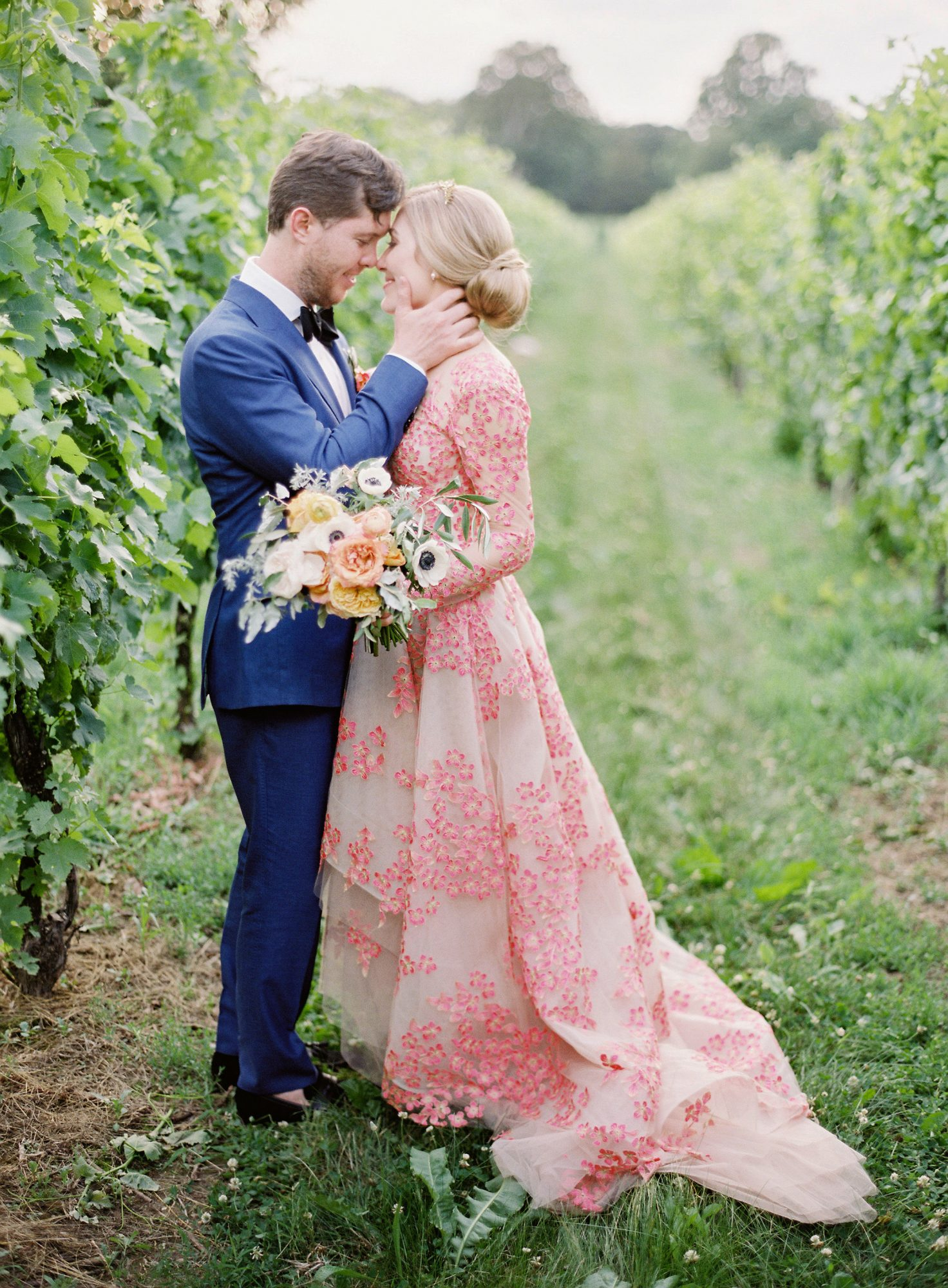 Nontraditional Long-Sleeved Wedding Dress