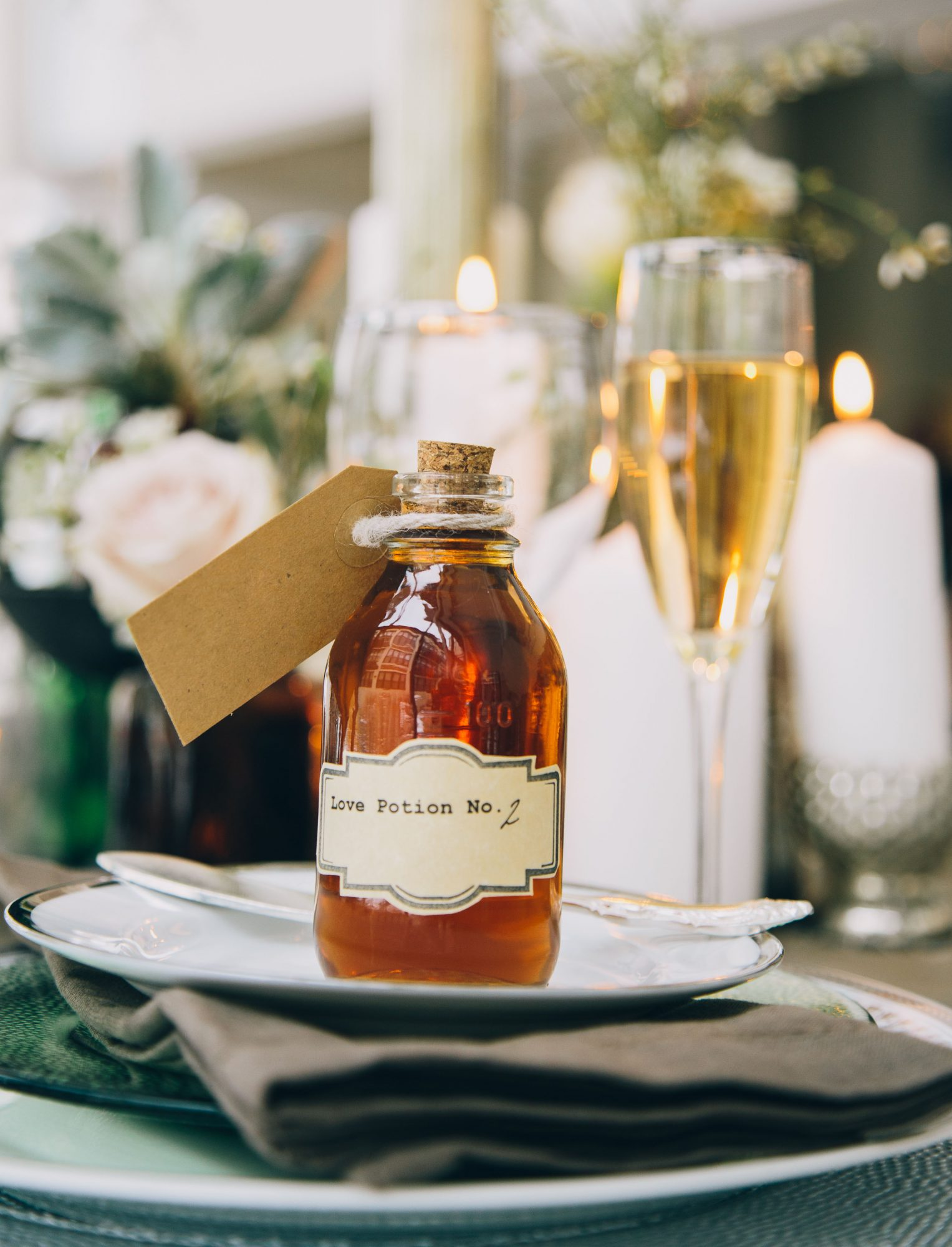 alcohol escort cards love potion bottle