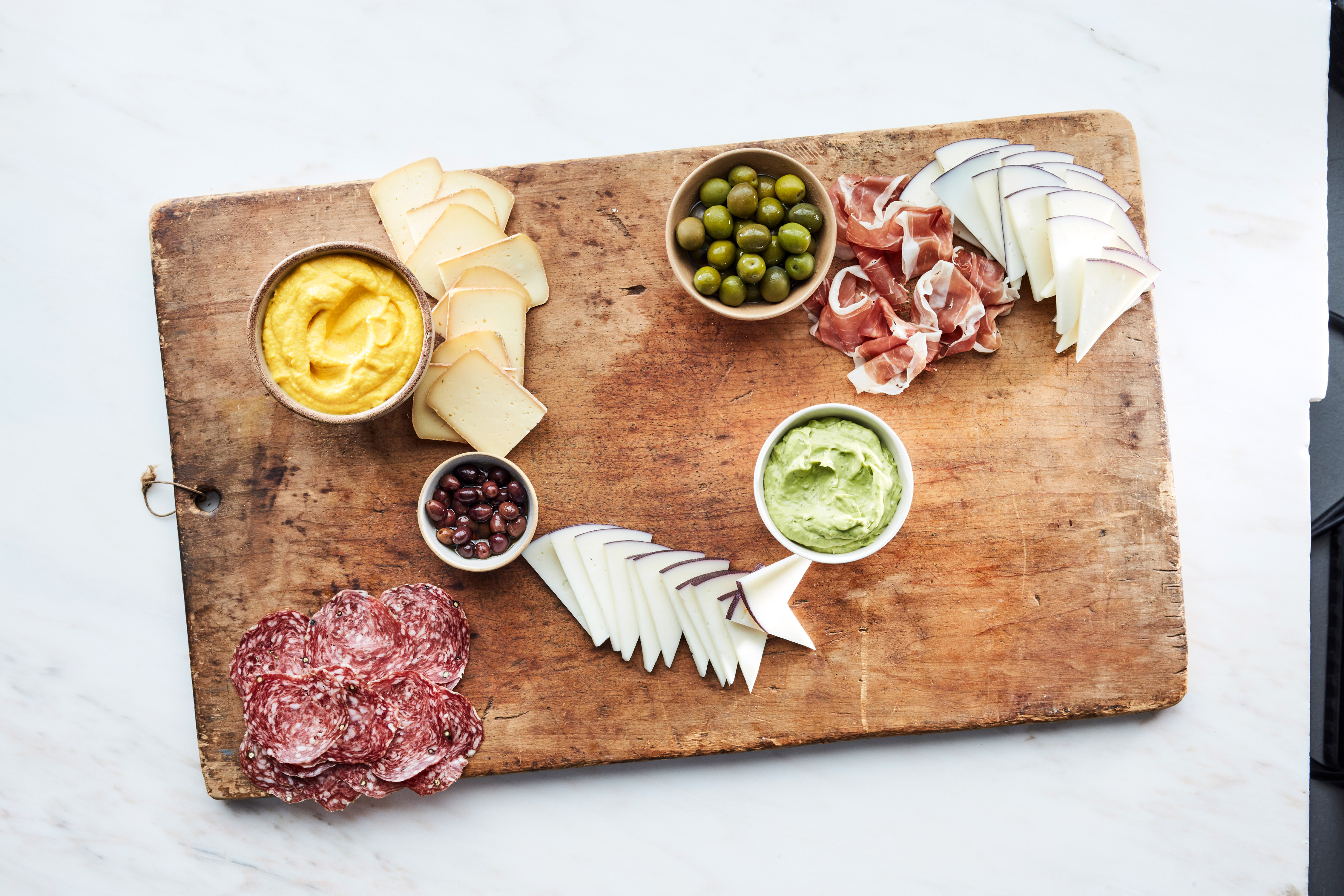 grazing board summer step 3 meats dips cheese wooden