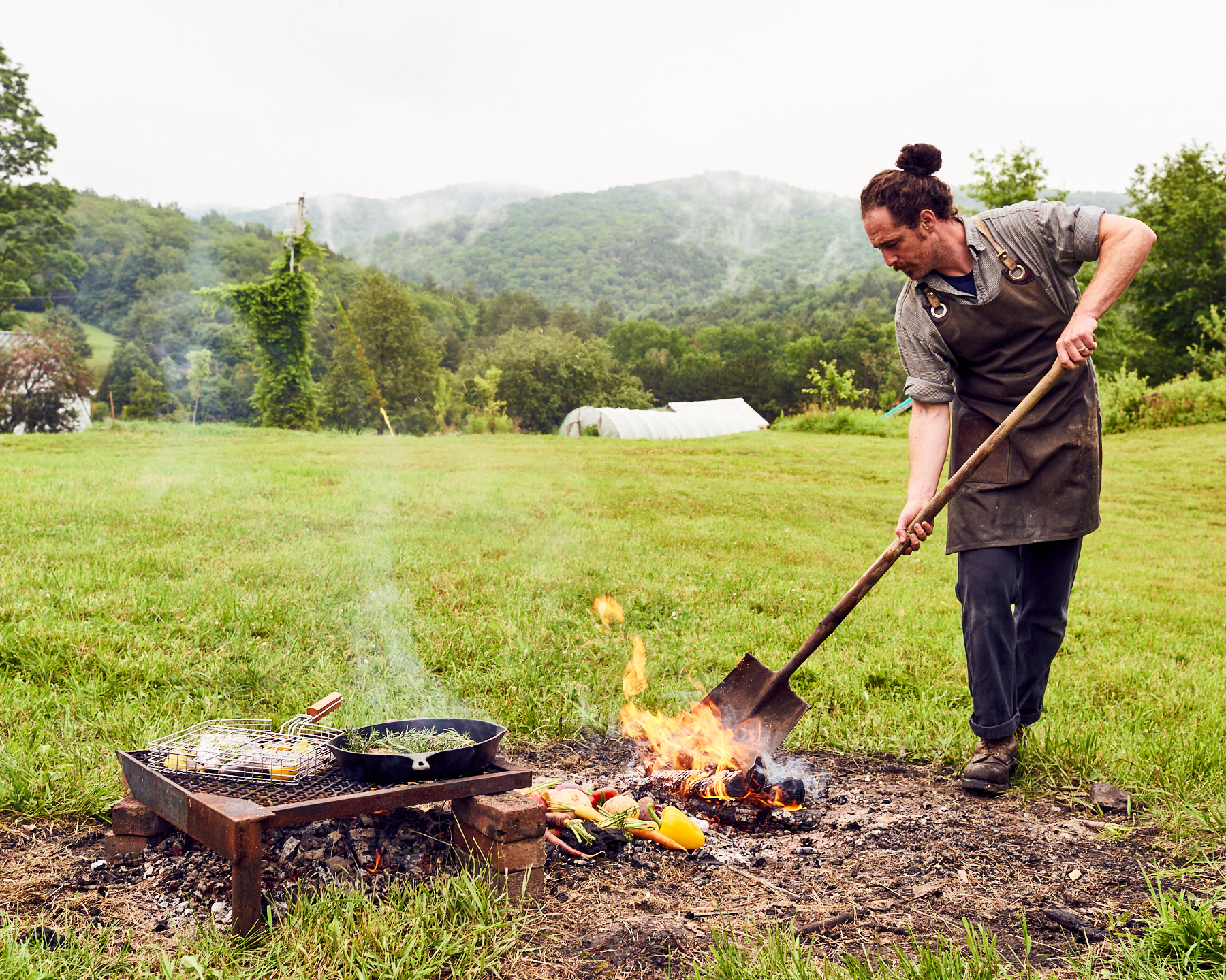 man outdoor fire cooking vermont makers 42 burners