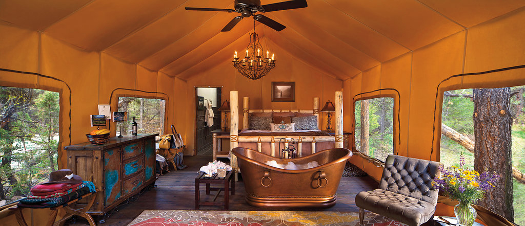 glamping bachelorette retreats resort at paws up