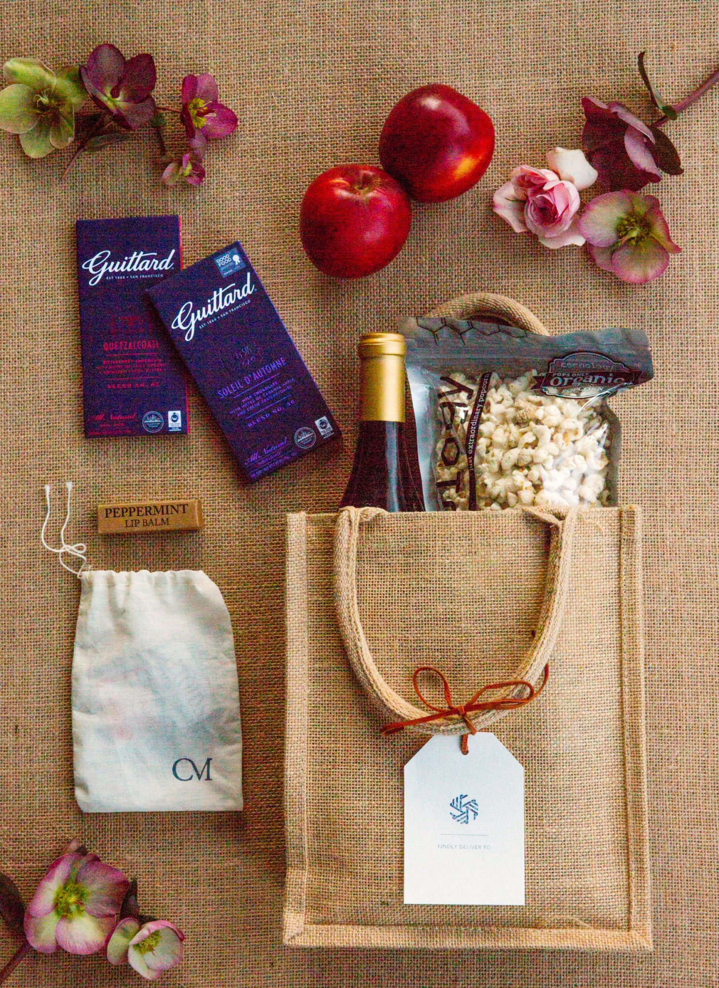 caitlin michael wedding welcome bags