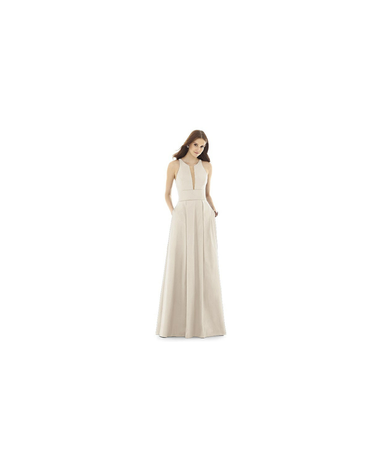 beige neutral bridesmaid dresses alfred sung
