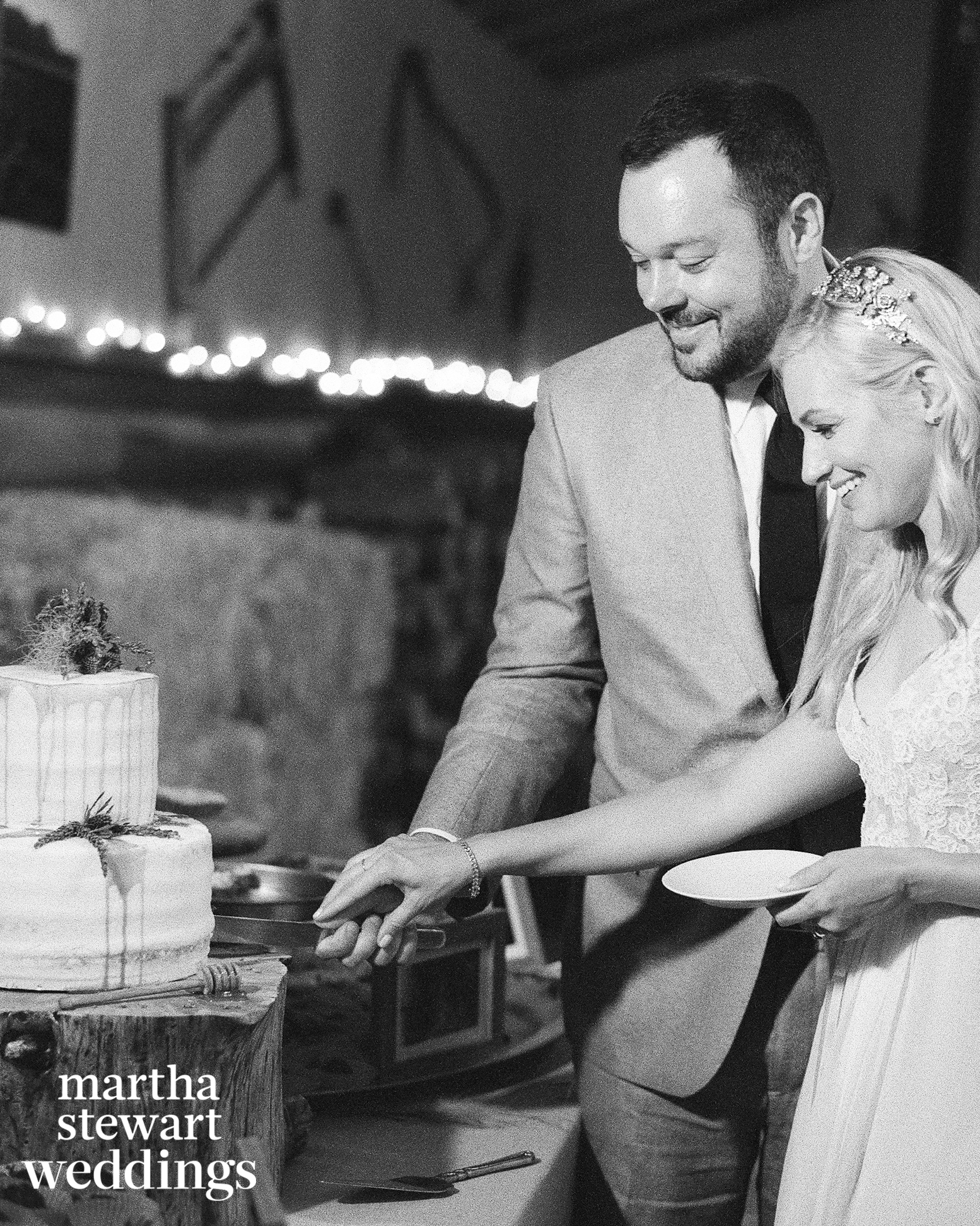 beth behrs michael gladis wedding cake cutting sylvie gil