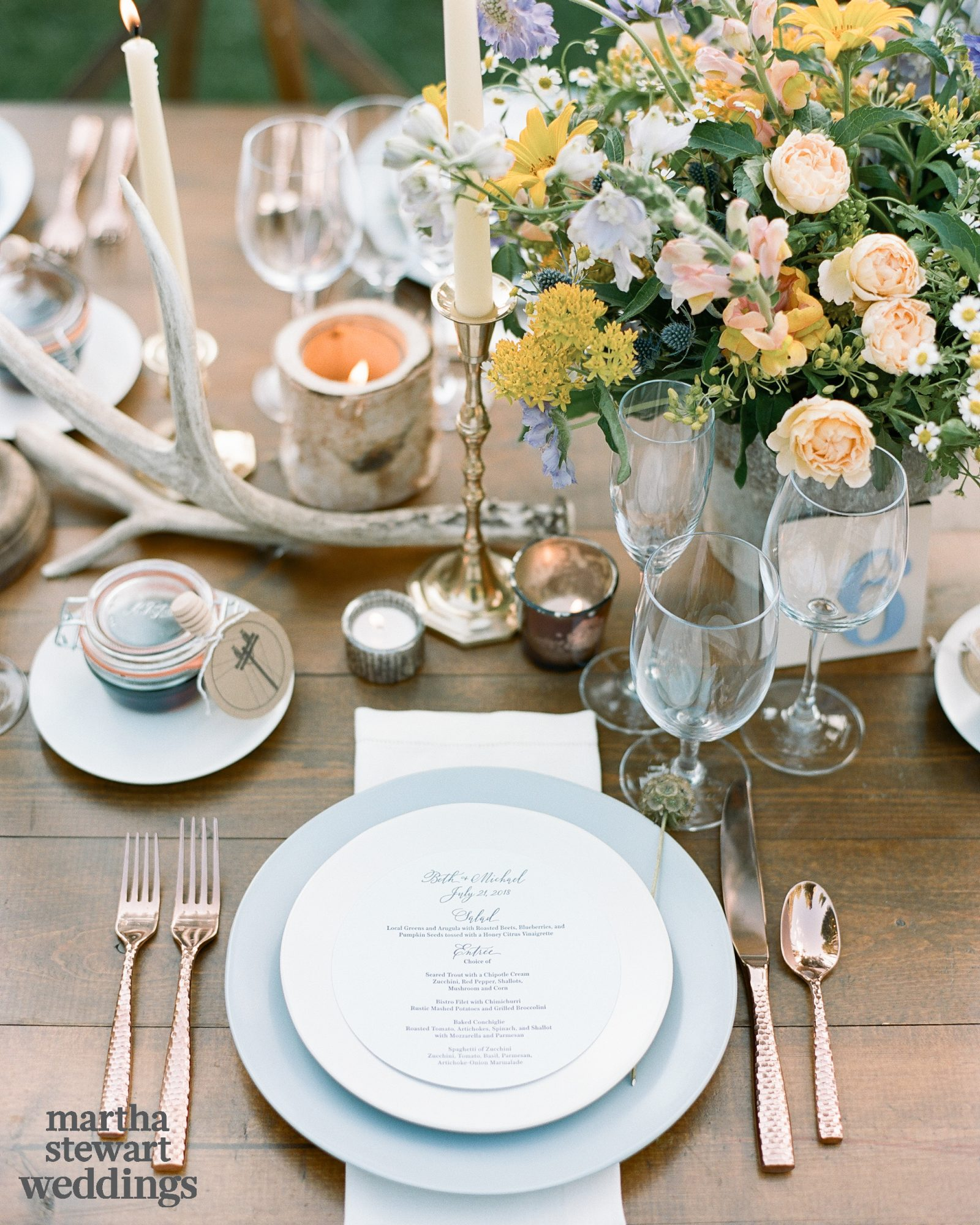 beth behrs michael gladis wedding place setting sylvie gil