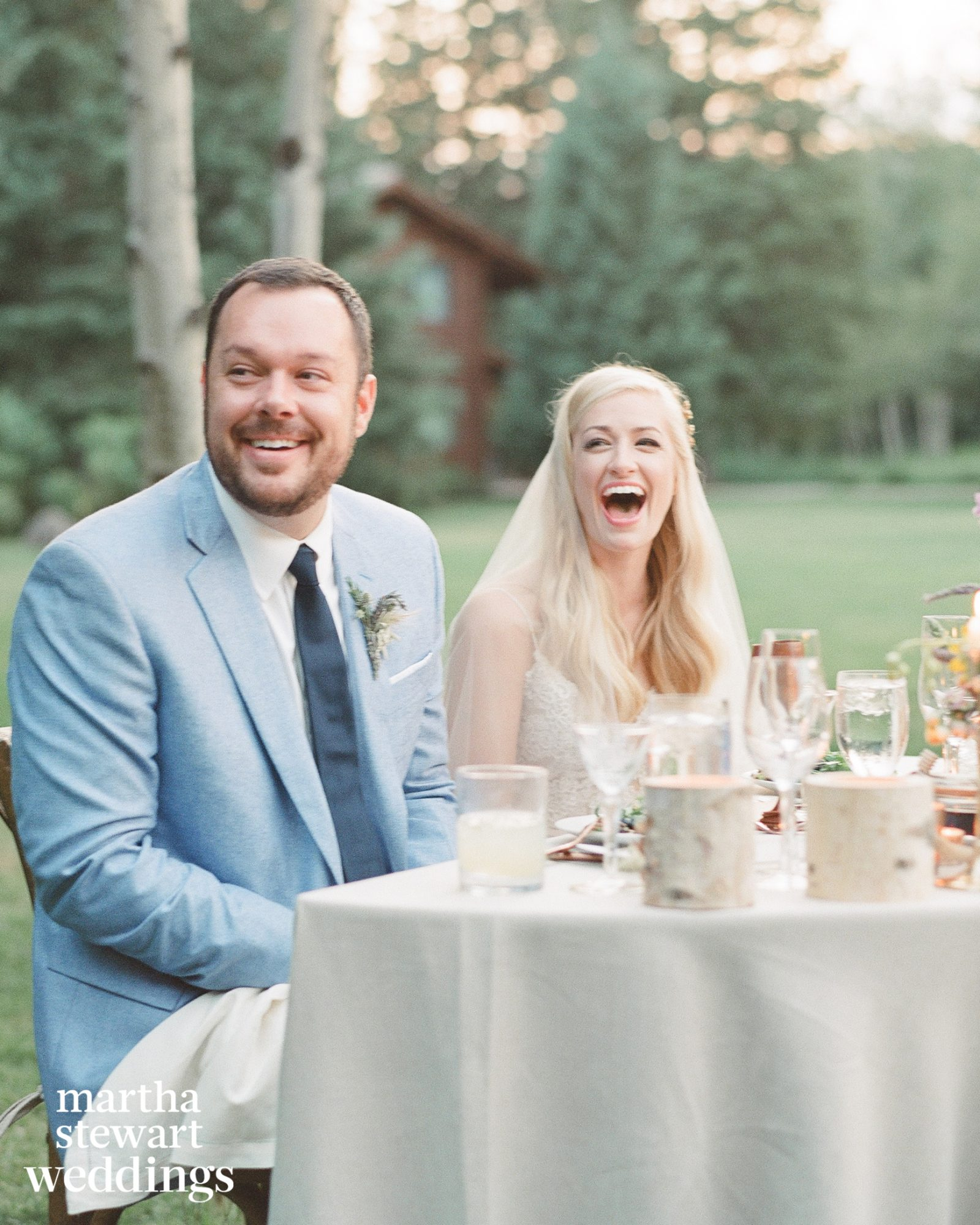 beth behrs michael gladis wedding reception laughing sylvie gil