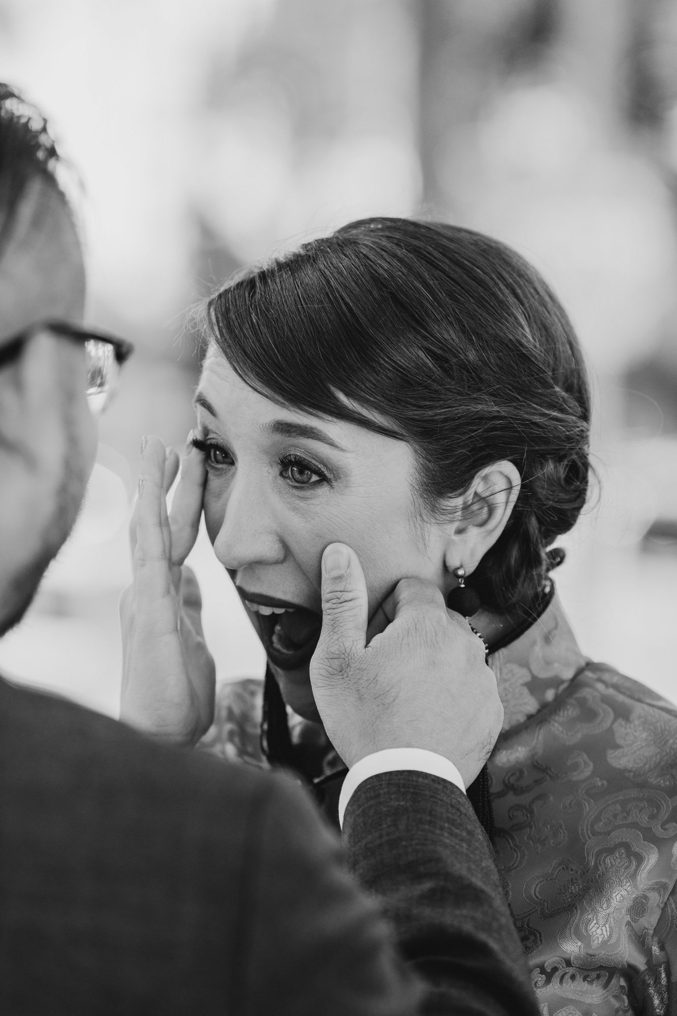 colleen pip wedding first look tears
