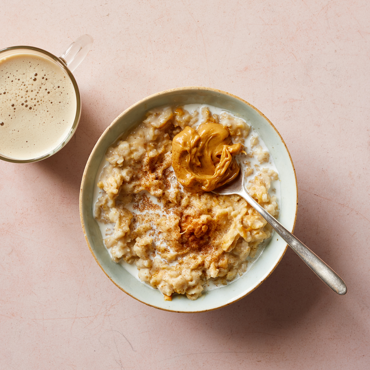 workout oatameal with peanut butter