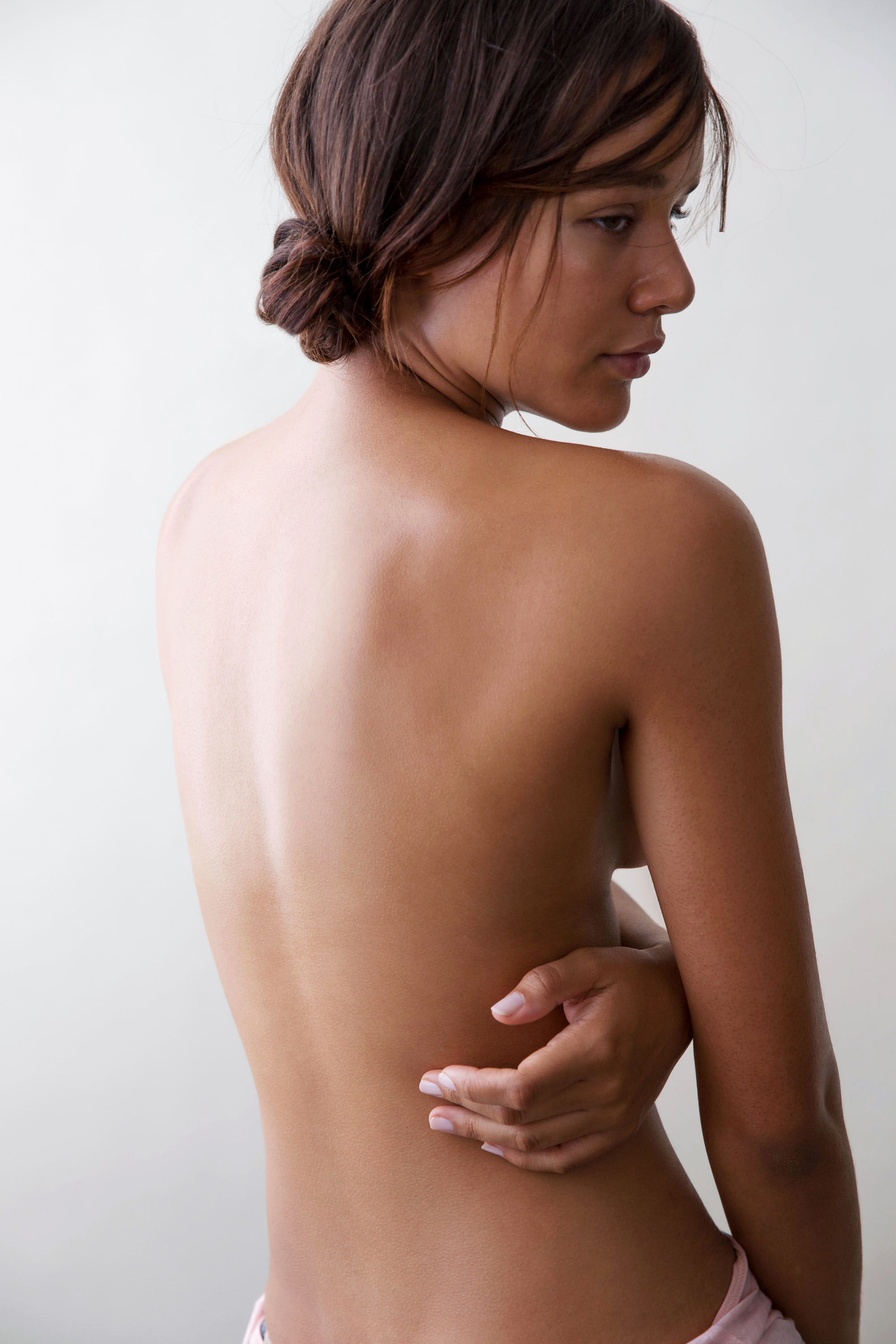 back health muscles pain shoulders woman