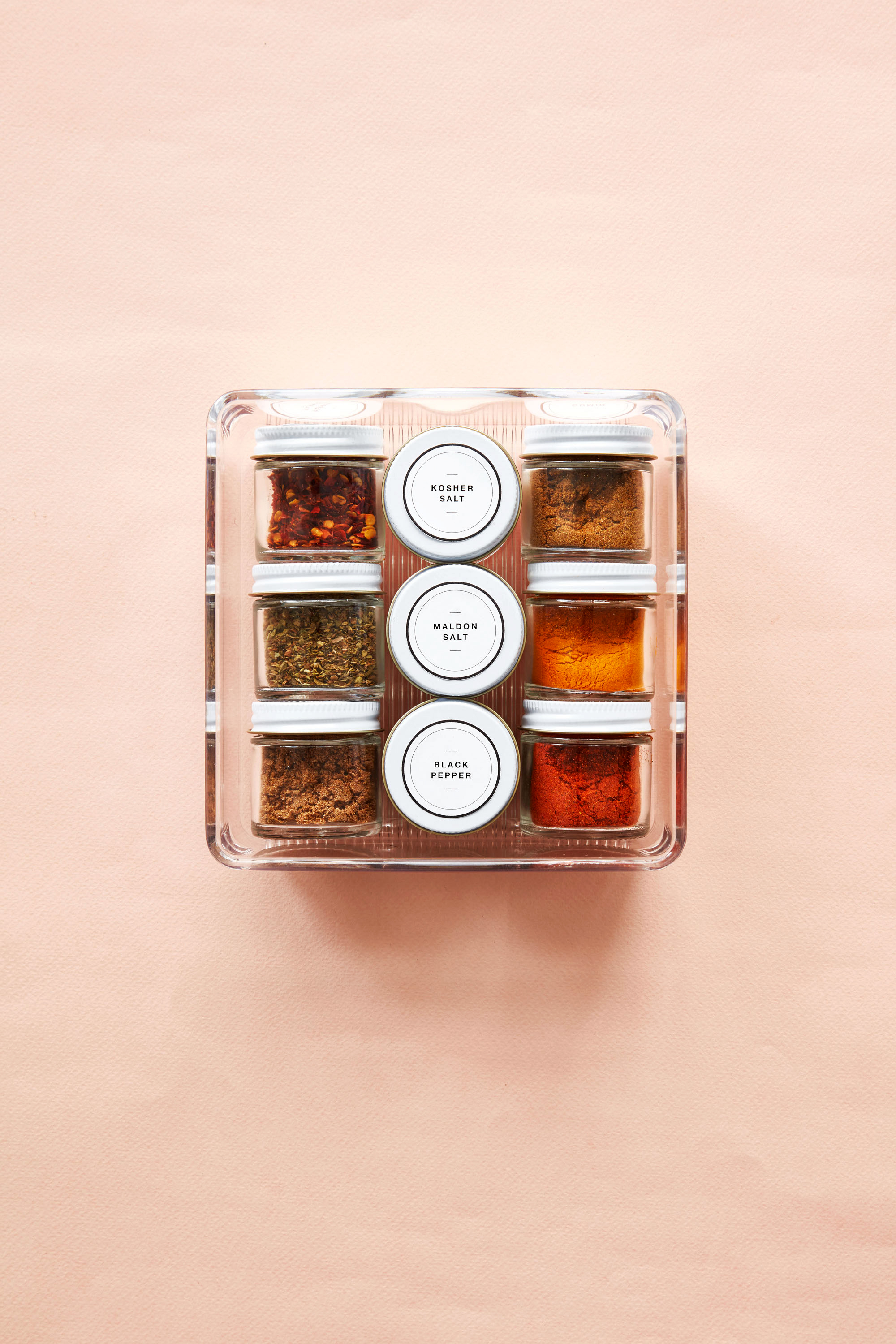 spices containers jars