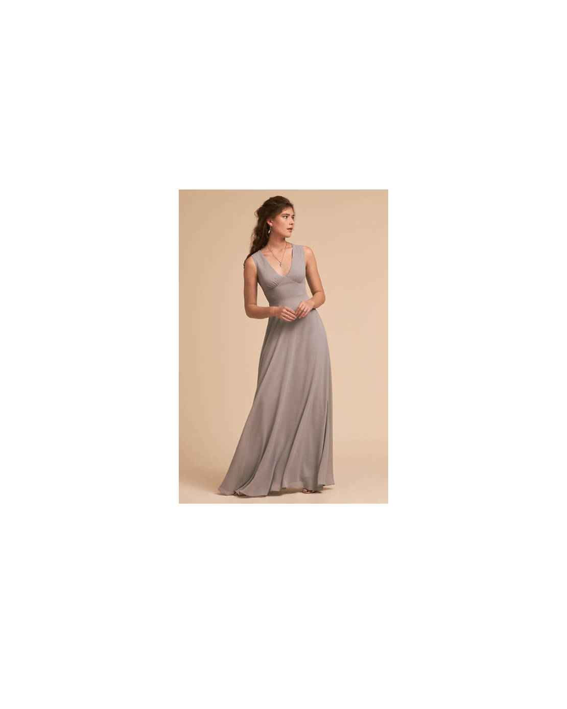grey silver bridesmaid dresses bhldn capulet